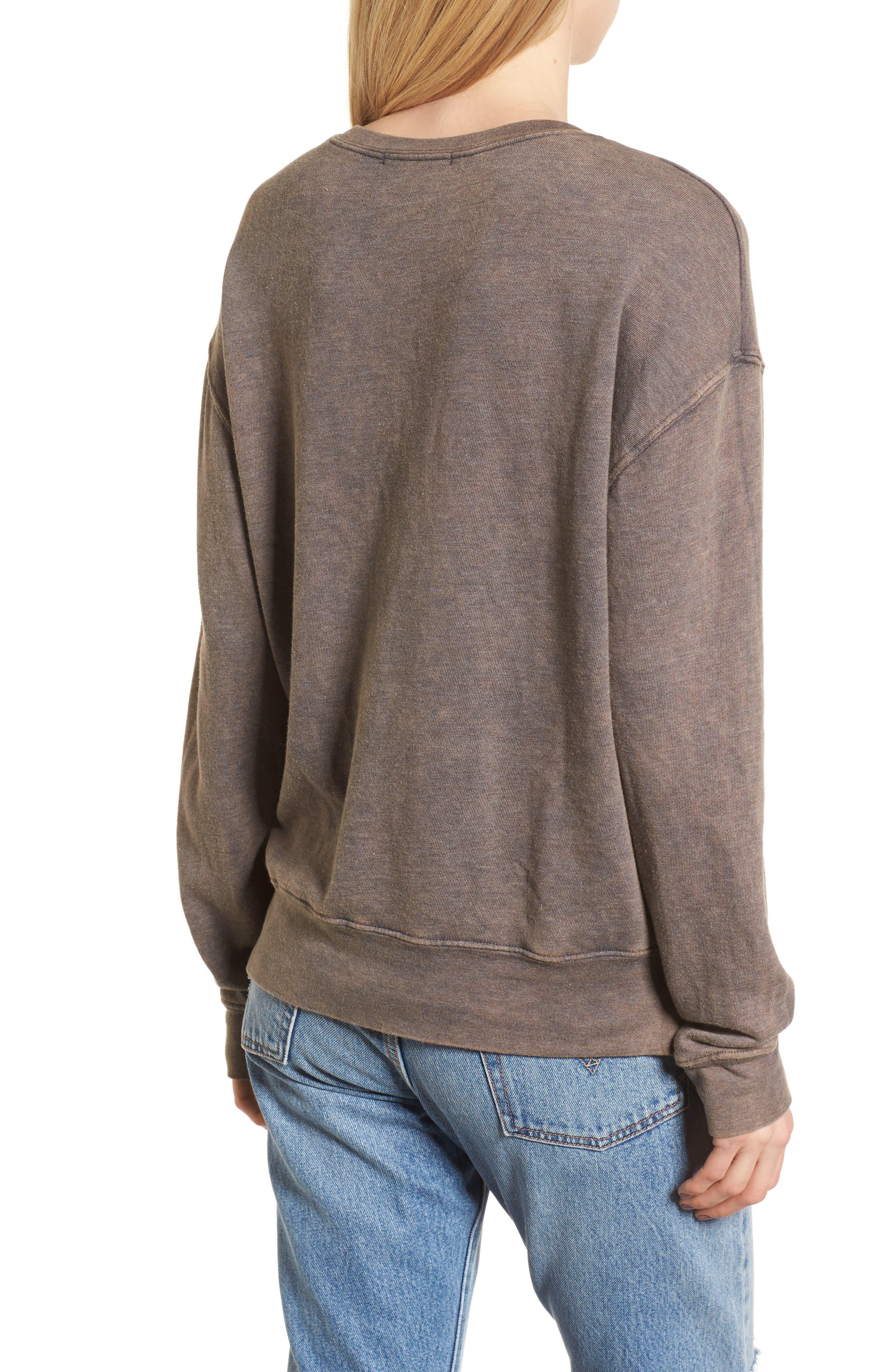 Always Take the Long Way Home Sweatshirt,                             Alternate thumbnail 2, color,                             Vintage Black