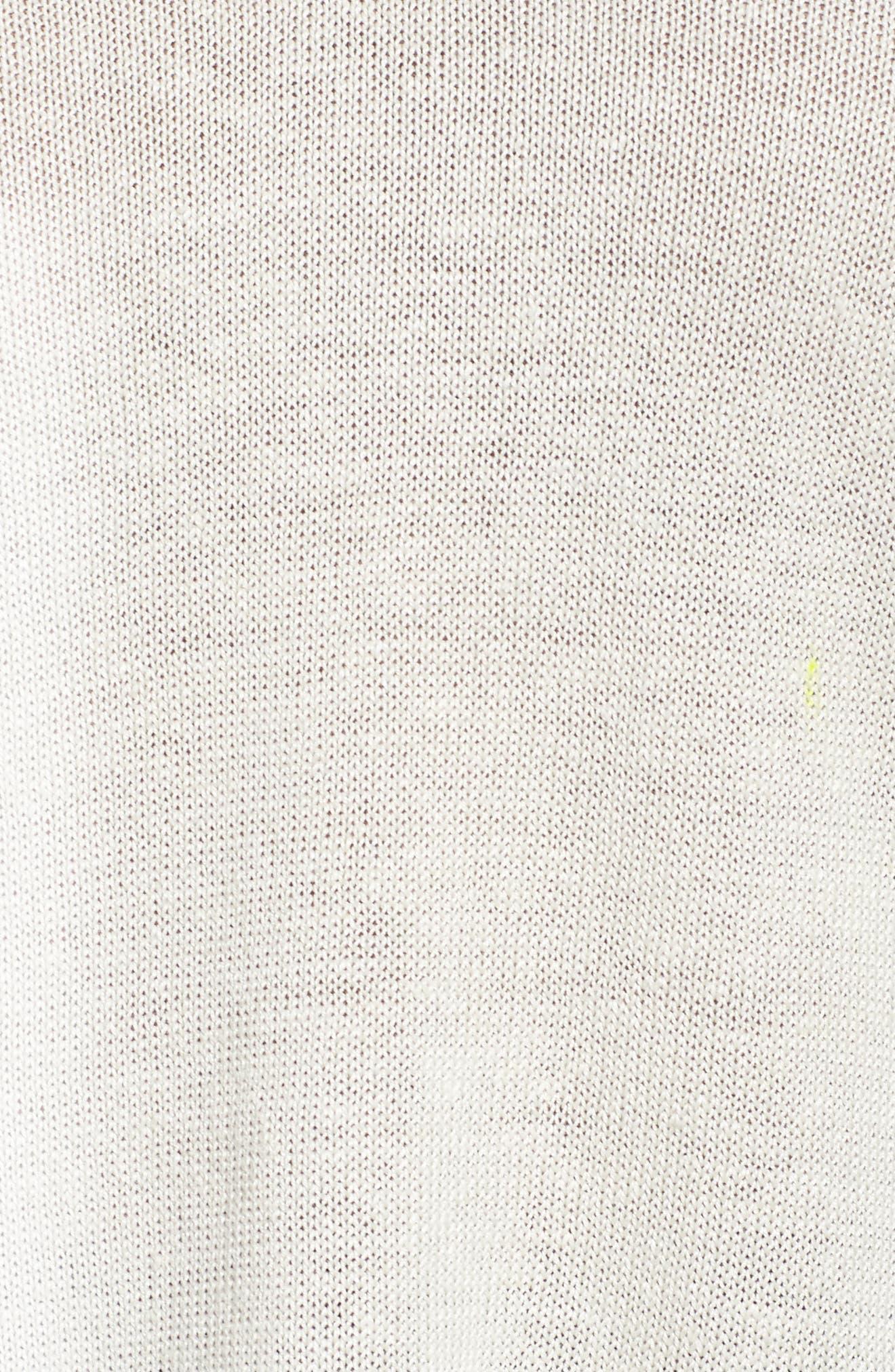 Organic Linen Sweater,                             Alternate thumbnail 5, color,                             Bone