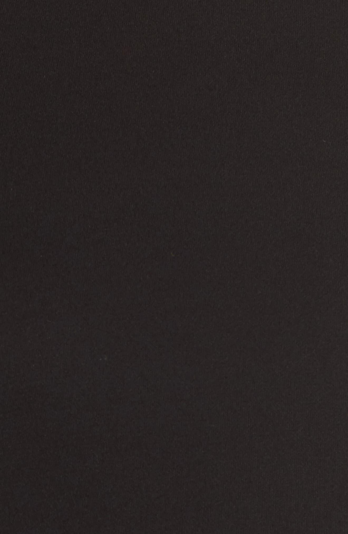 Crewneck Silk Top,                             Alternate thumbnail 5, color,                             Black