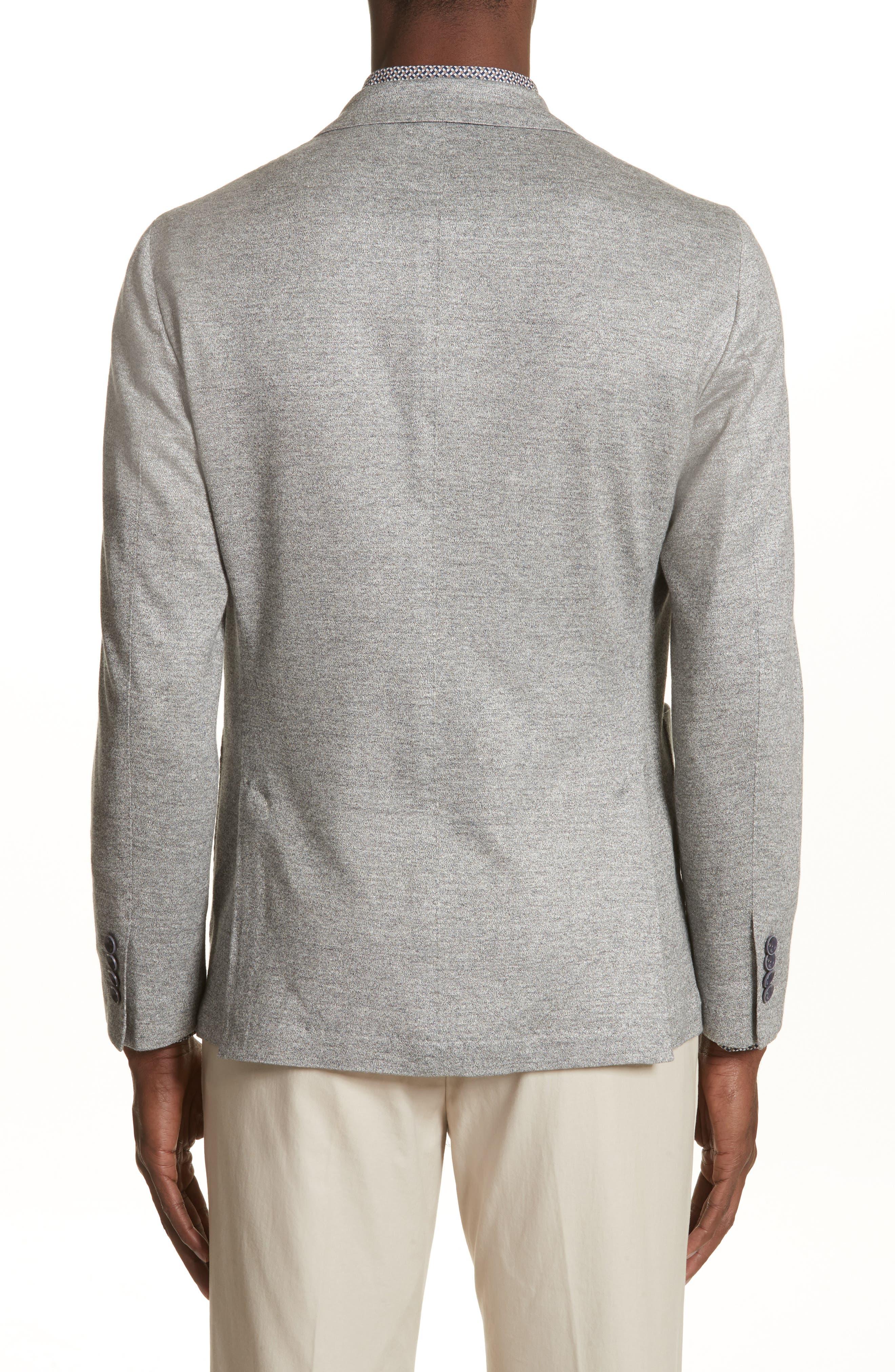 Trim Fit Washed Jersey Jacket,                             Alternate thumbnail 2, color,                             Light Grey