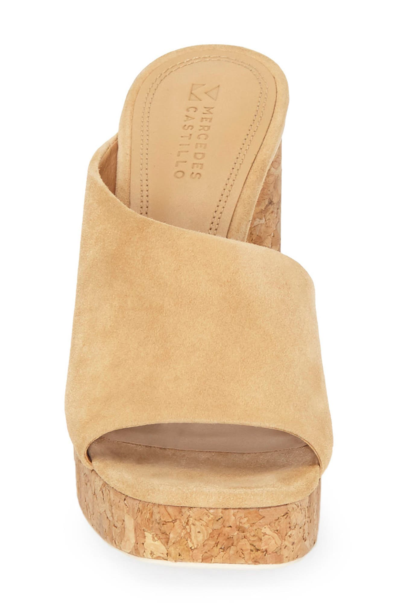 Chiara Platform Mule,                             Alternate thumbnail 3, color,                             Jute
