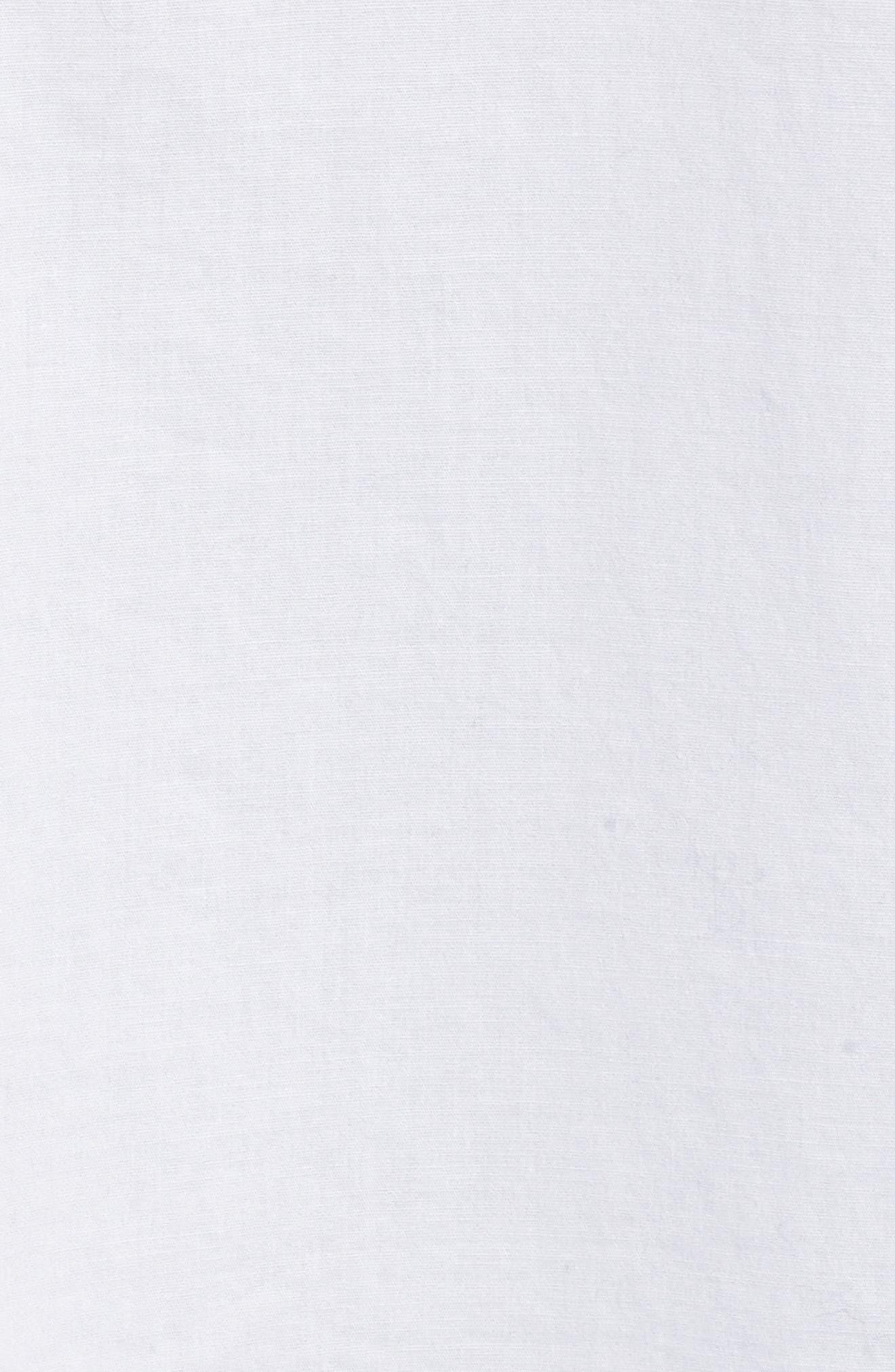 Stretch Organic Cotton Shirt,                             Alternate thumbnail 5, color,                             White