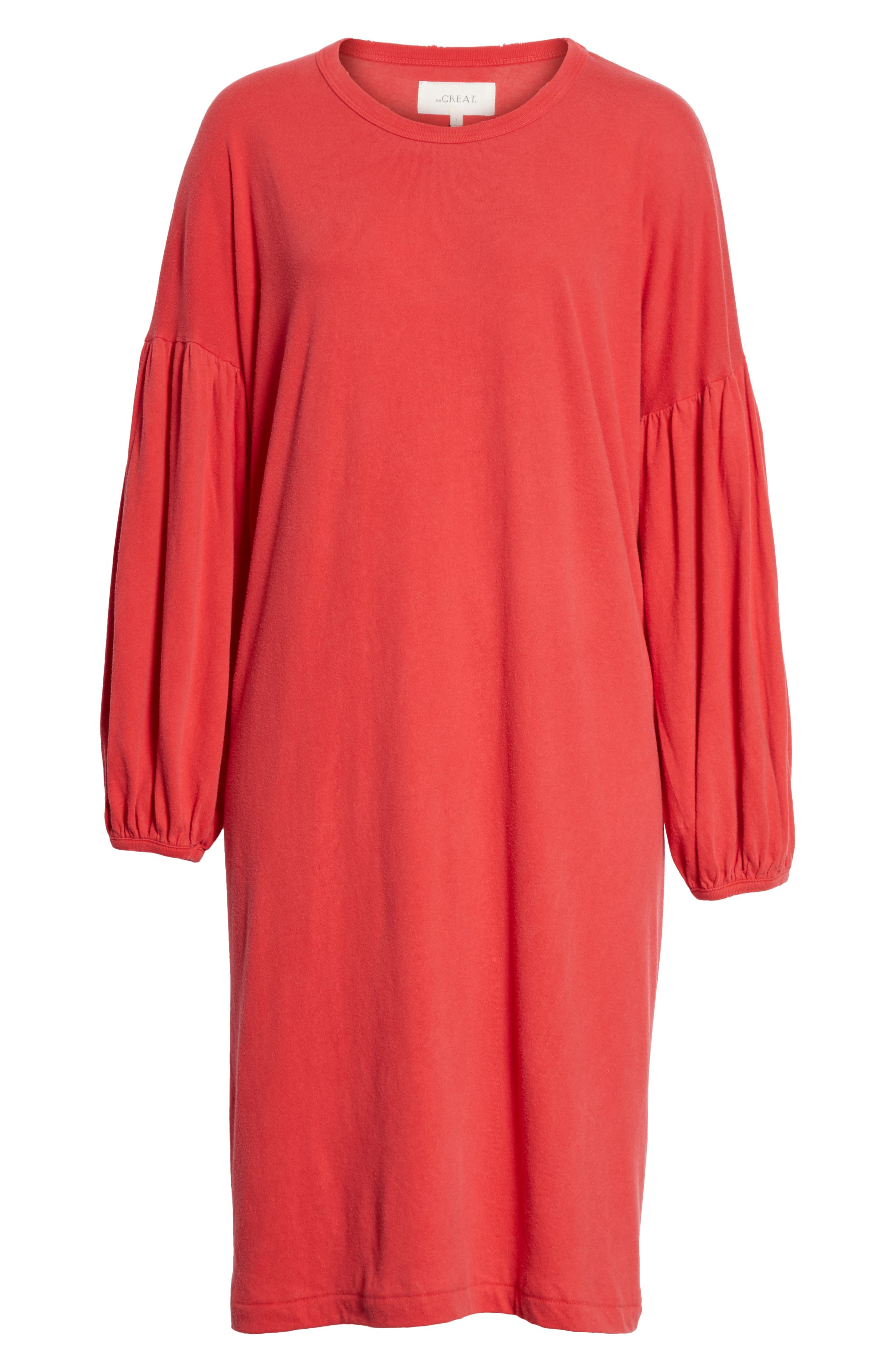 The Bubble Sleeve Dress,                             Alternate thumbnail 6, color,                             Cherry Red