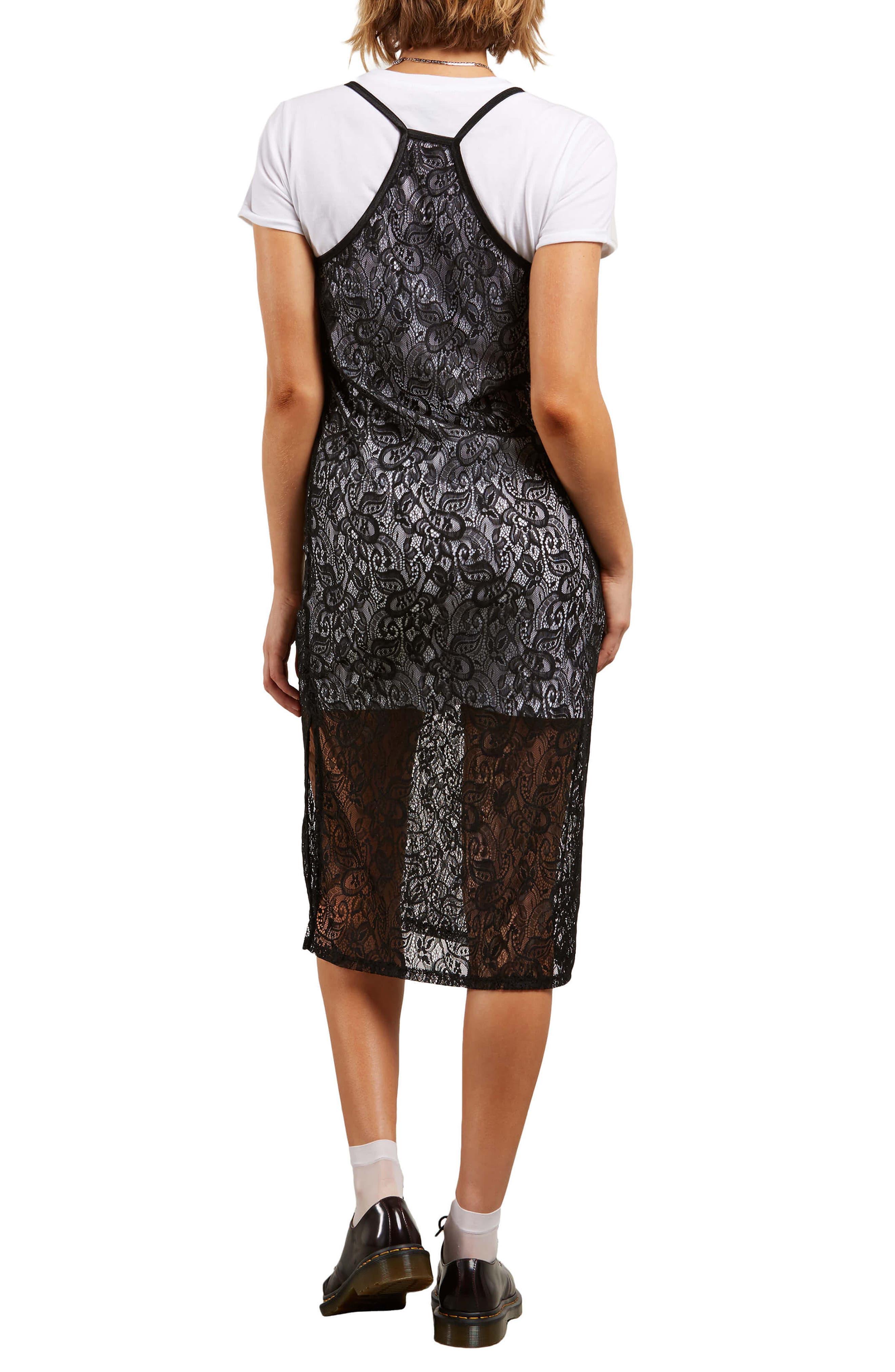 Time's Now Layered Midi Dress,                             Alternate thumbnail 2, color,                             Black
