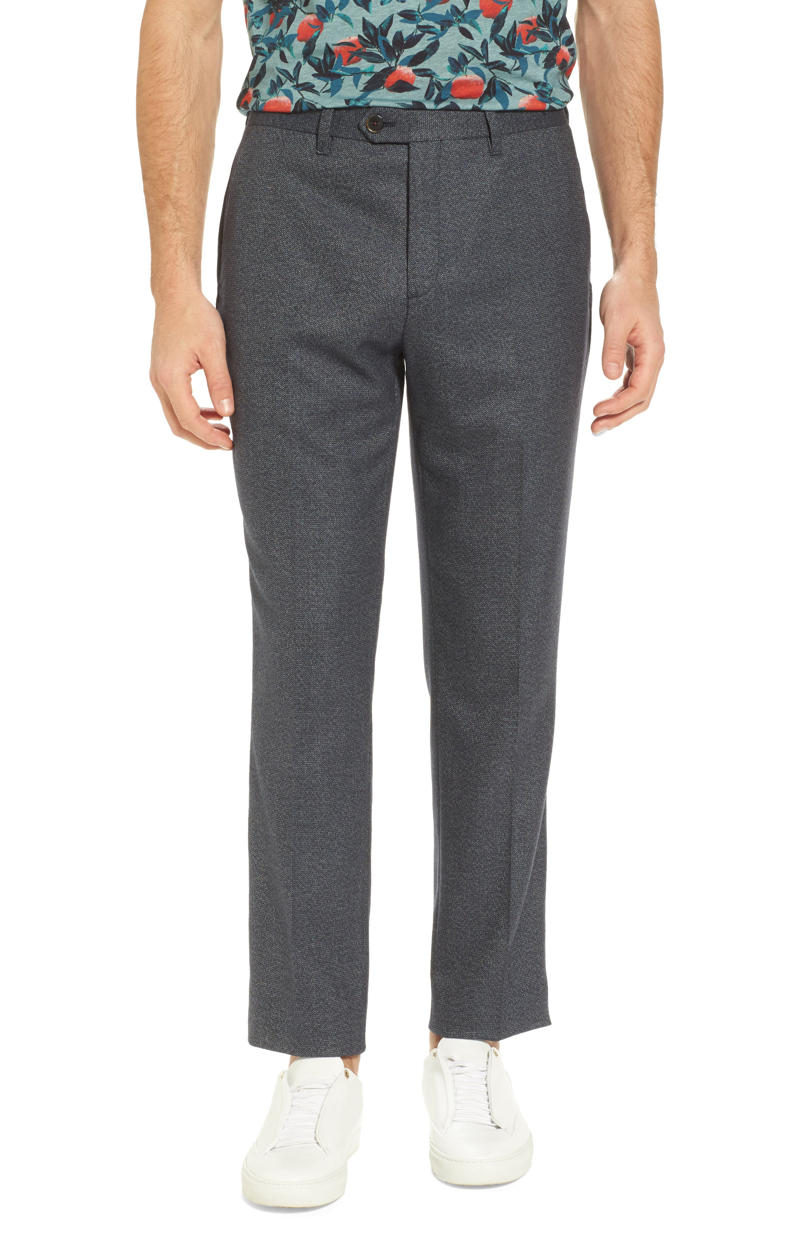 Beektro Trim Fit Trousers,                         Main,                         color, Navy