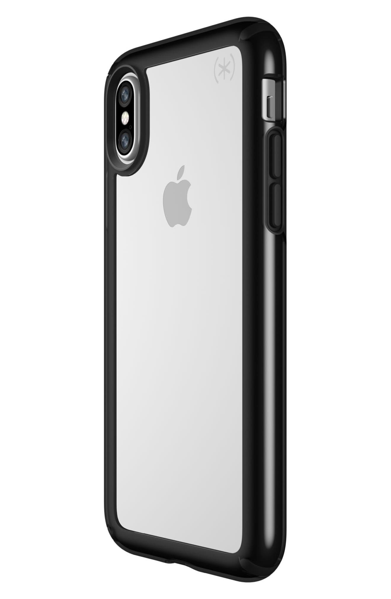 Transparent iPhone X Case,                             Alternate thumbnail 3, color,                             Clear/ Black