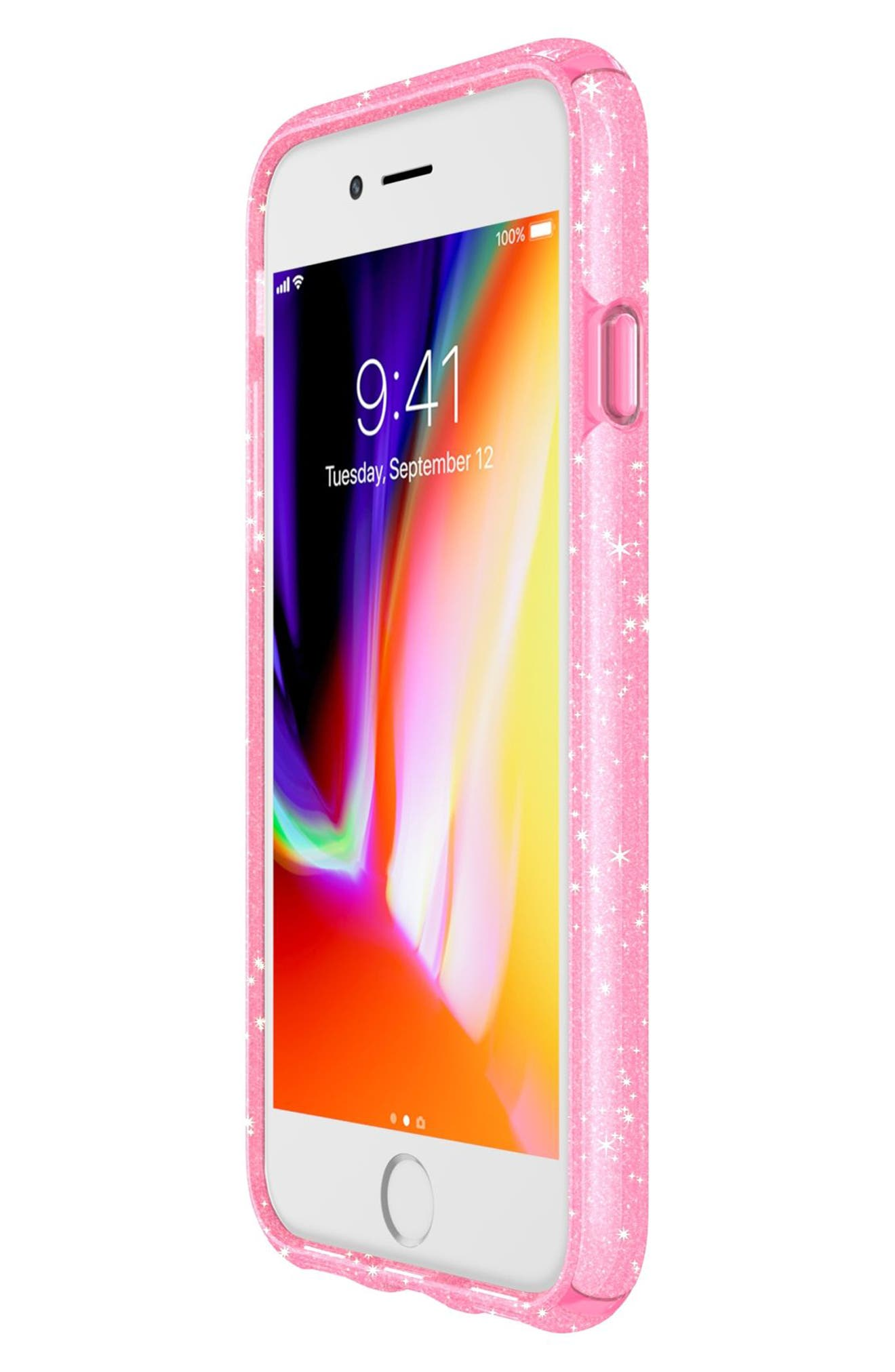 iPhone 6/6s/7/8 Case,                             Alternate thumbnail 7, color,                             Bella Pink Gold Glitter/ Pink