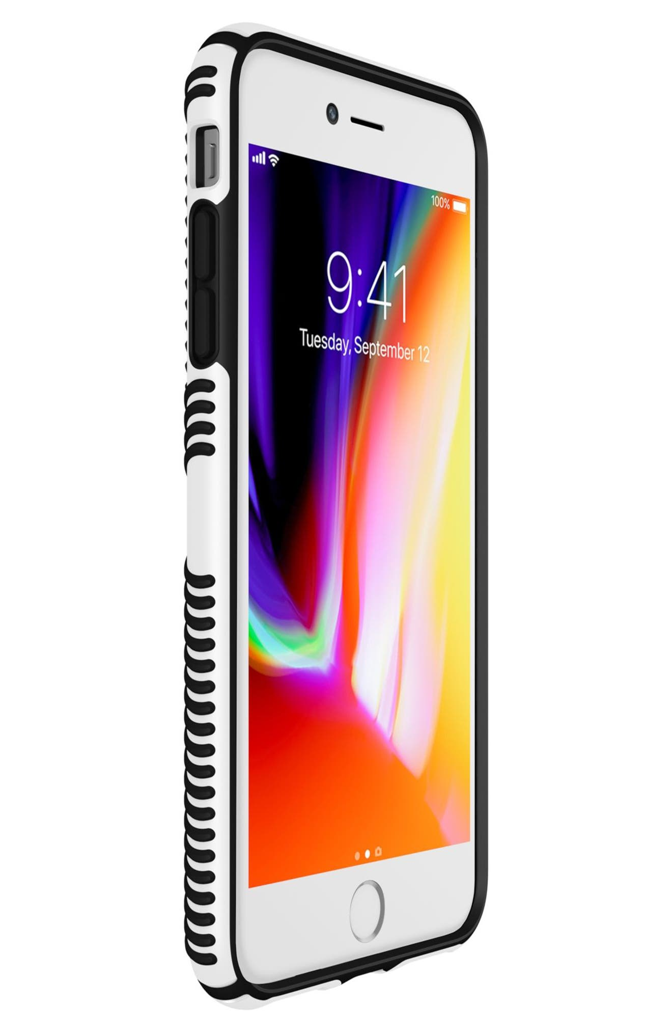 Grip iPhone 6/6s/7/8 Plus Case,                             Alternate thumbnail 6, color,                             White/ Black