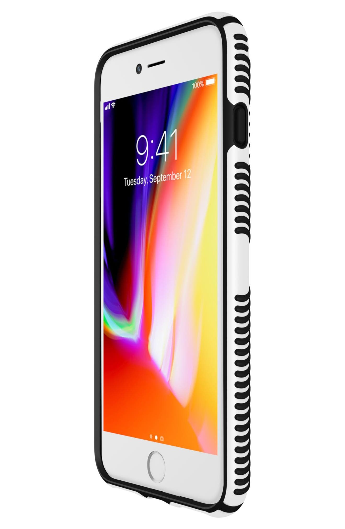 Grip iPhone 6/6s/7/8 Plus Case,                             Alternate thumbnail 7, color,                             White/ Black