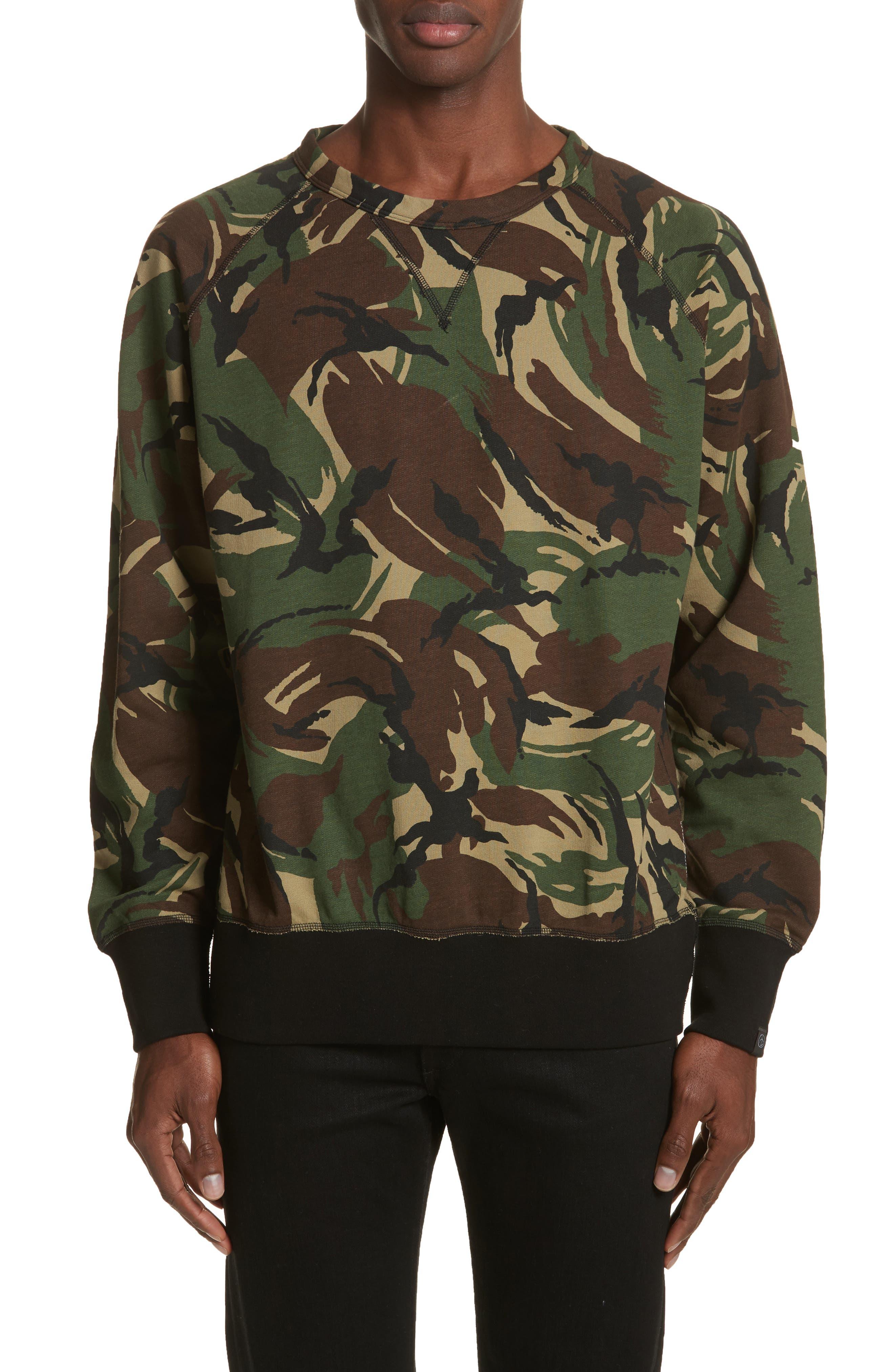 Camo Sweatshirt,                         Main,                         color, Camo