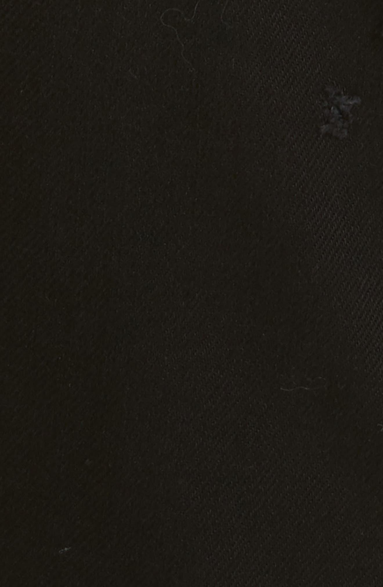 Destroyed Slim Fit Jeans,                             Alternate thumbnail 5, color,                             Black