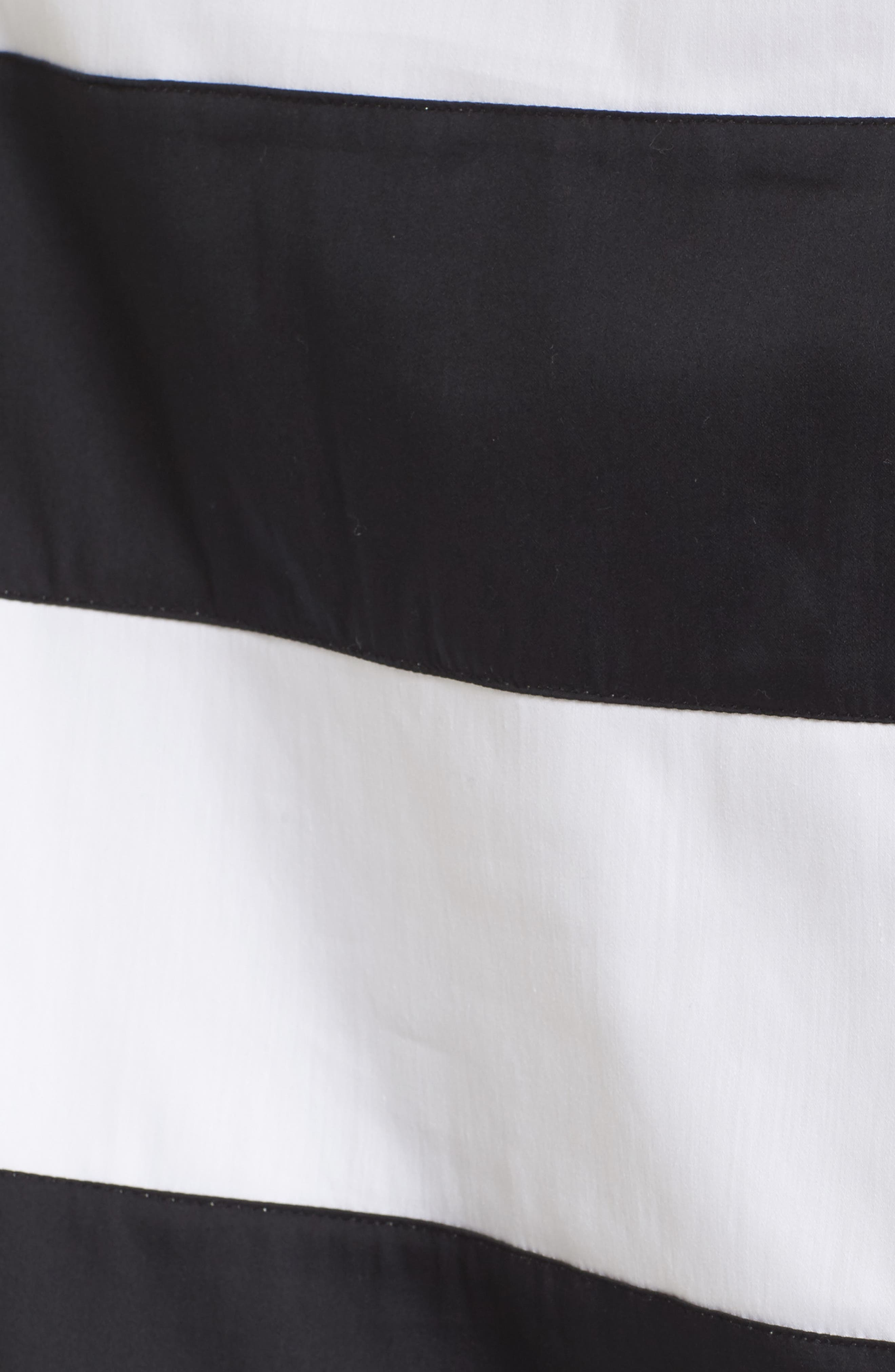 Off the Shoulder Stripe Top,                             Alternate thumbnail 5, color,                             White/ Black