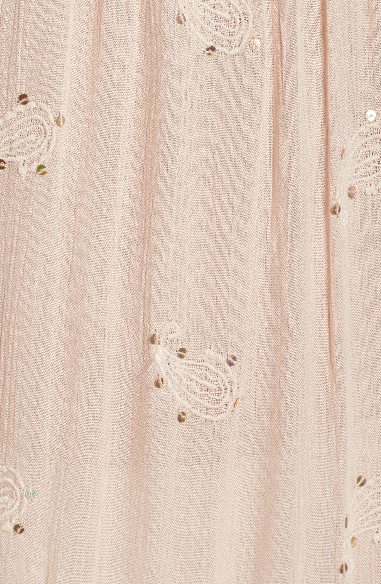 Mercer Cover-Up Maxi Dress,                             Alternate thumbnail 5, color,                             Blush