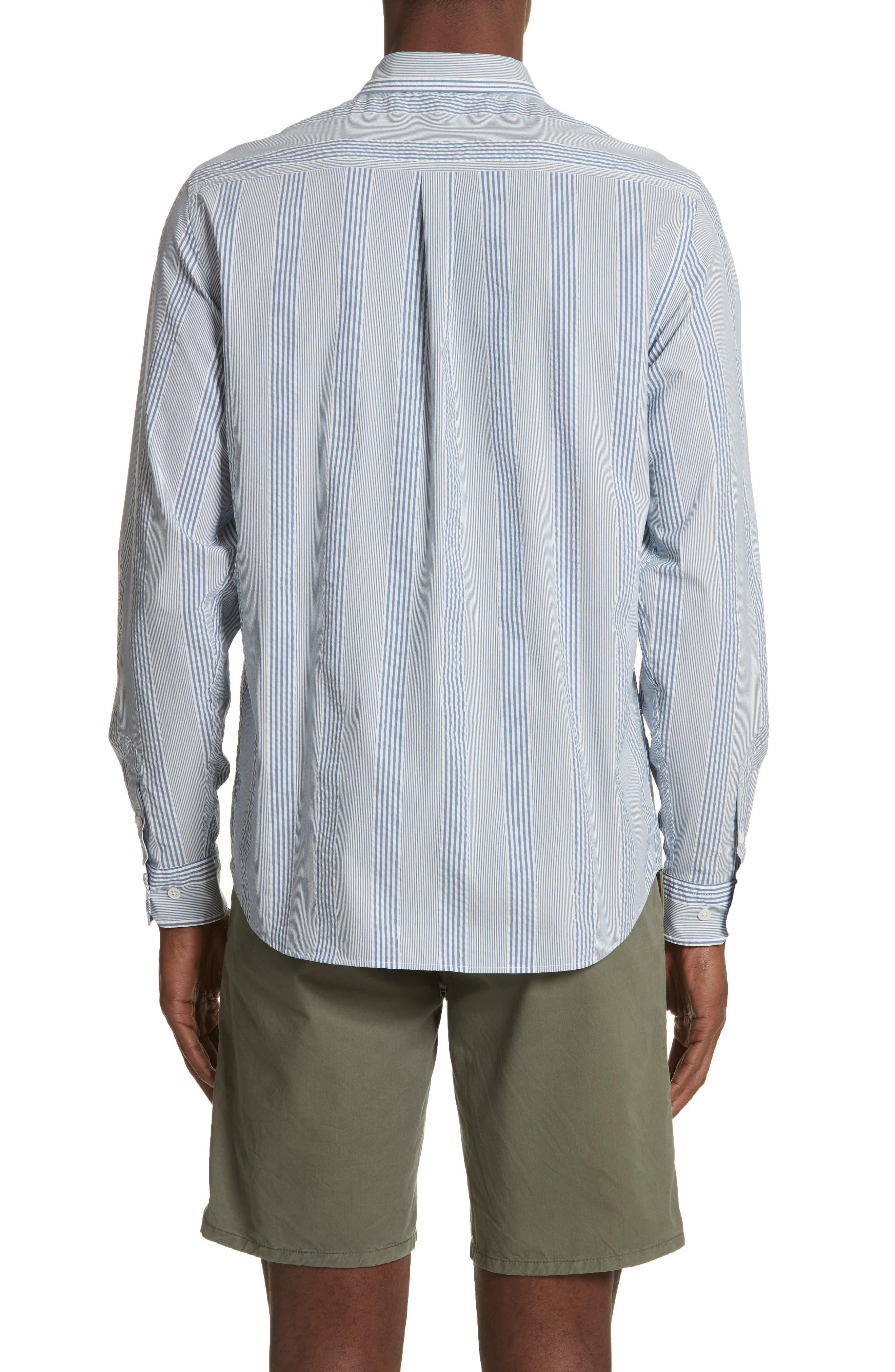 Osvald Seersucker Shirt,                             Alternate thumbnail 3, color,                             Luminous Blue