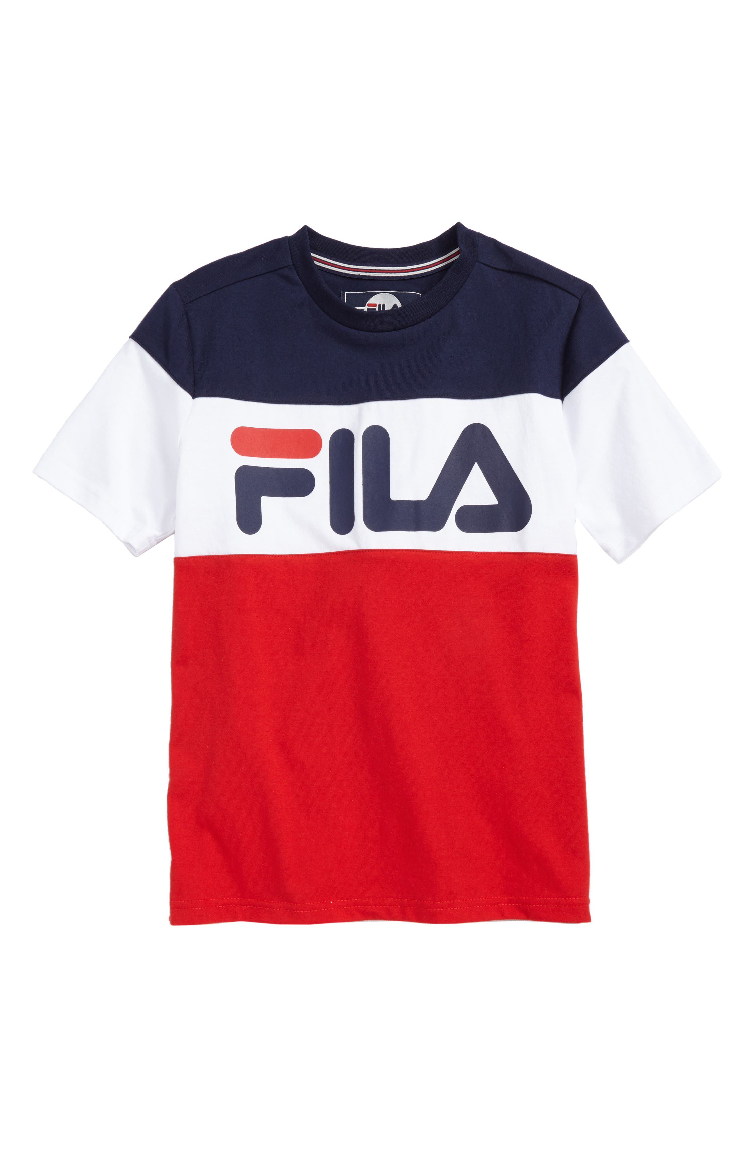 Colorblock Logo T-Shirt,                             Main thumbnail 1, color,                             Navy/ White/ Red