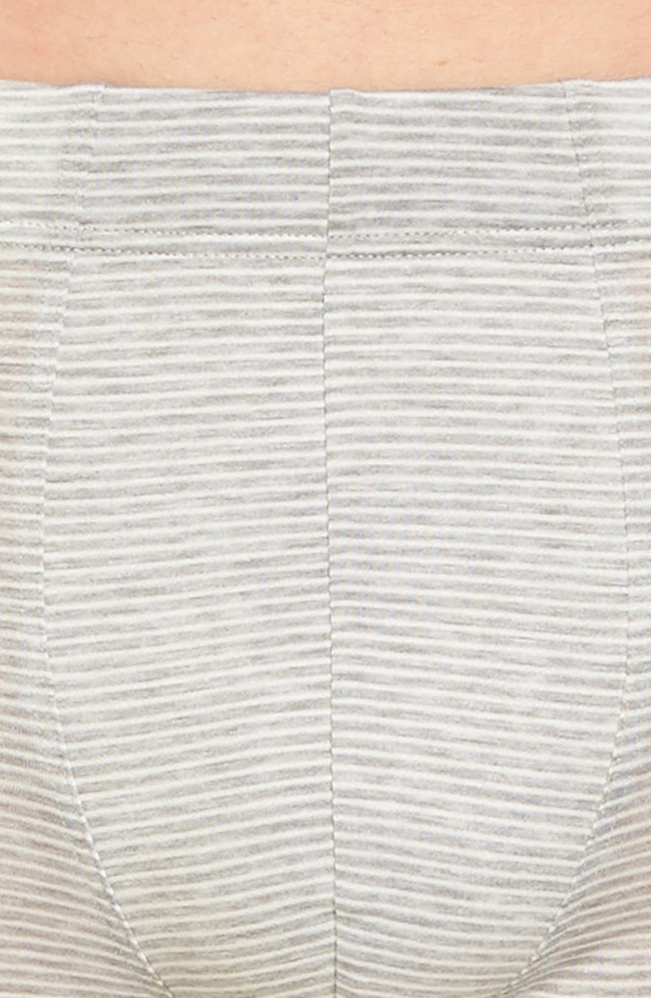 Sporty Stripe Trunks,                             Alternate thumbnail 4, color,                             Melange Stripe