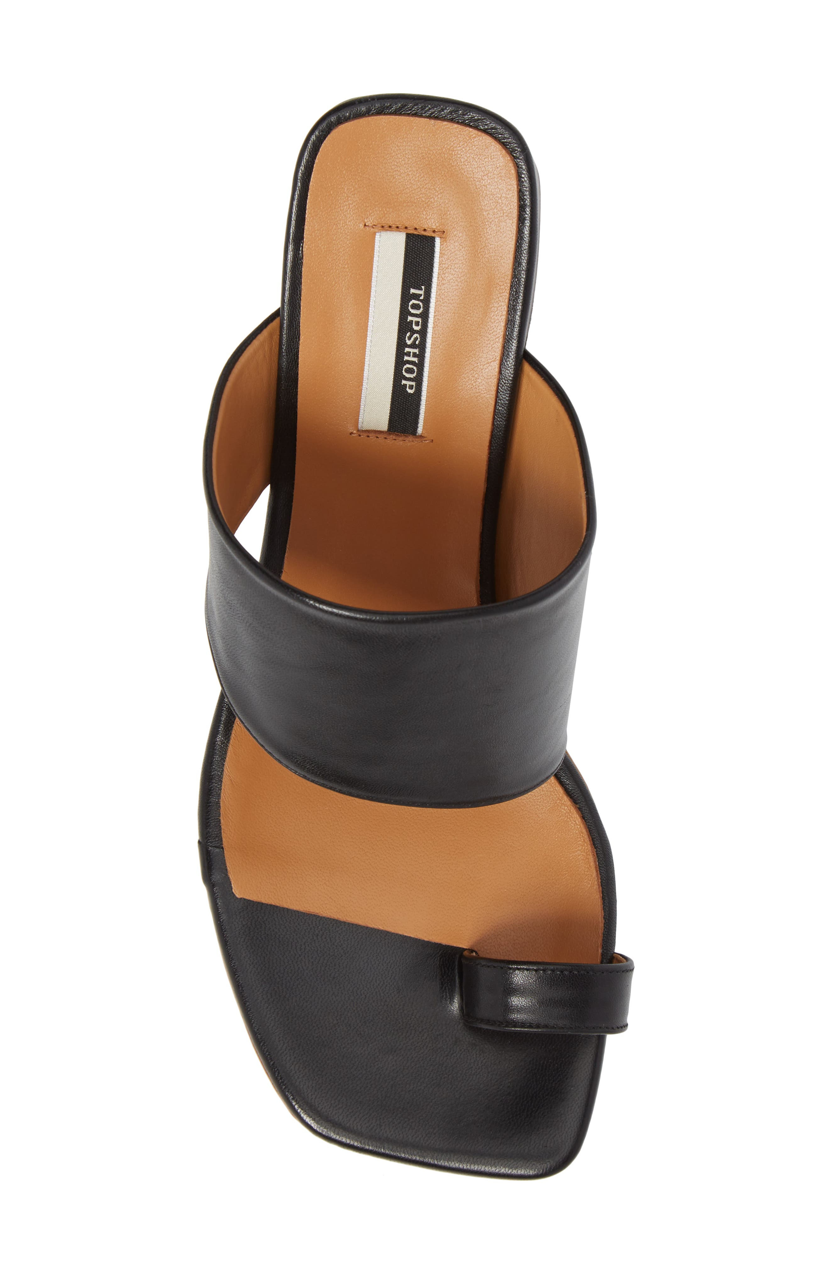 Nimble Toe Loop Slide Sandal,                             Alternate thumbnail 5, color,                             Black