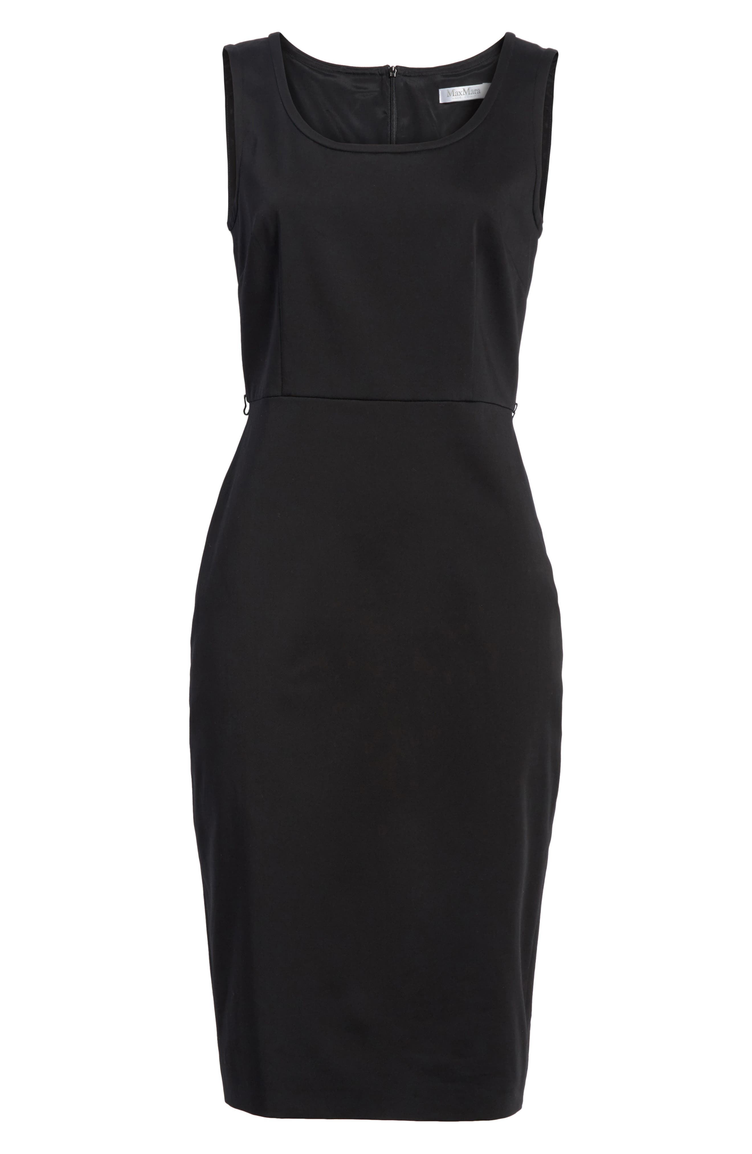 Segnale Sheath Dress,                             Alternate thumbnail 6, color,                             Black