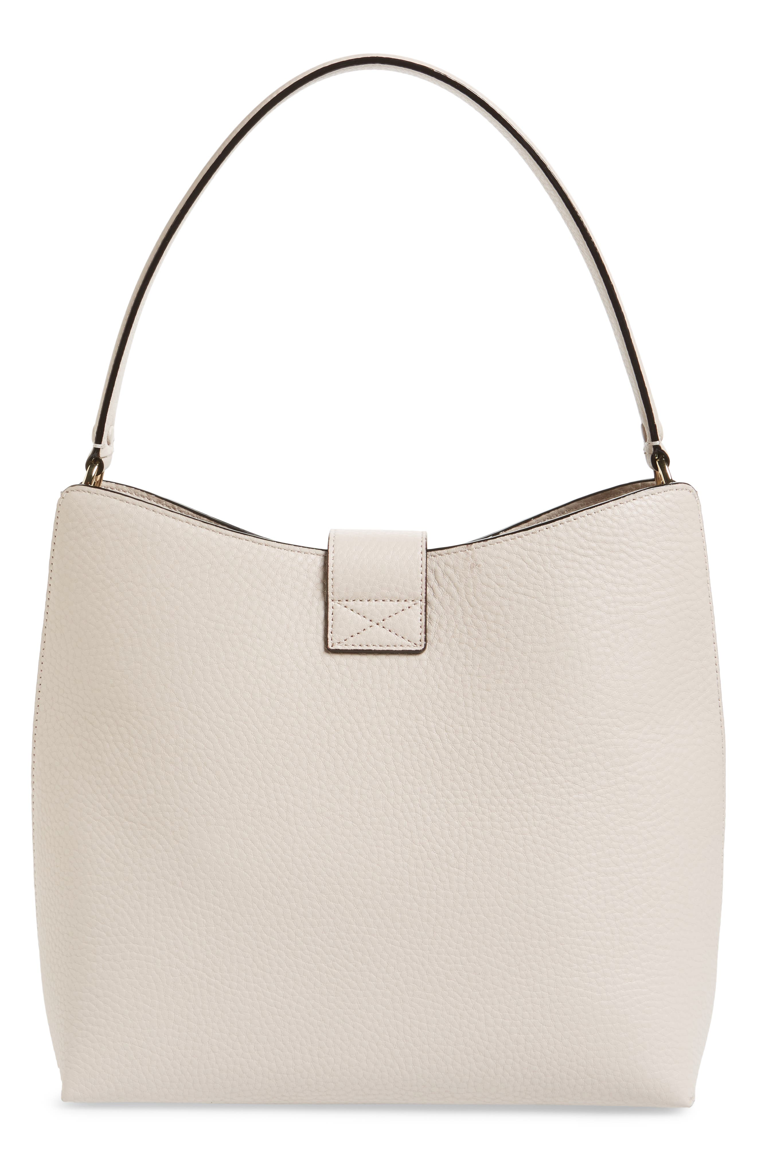 carlyle street – marea leather hobo,                             Alternate thumbnail 3, color,                             Warm Marshmallow