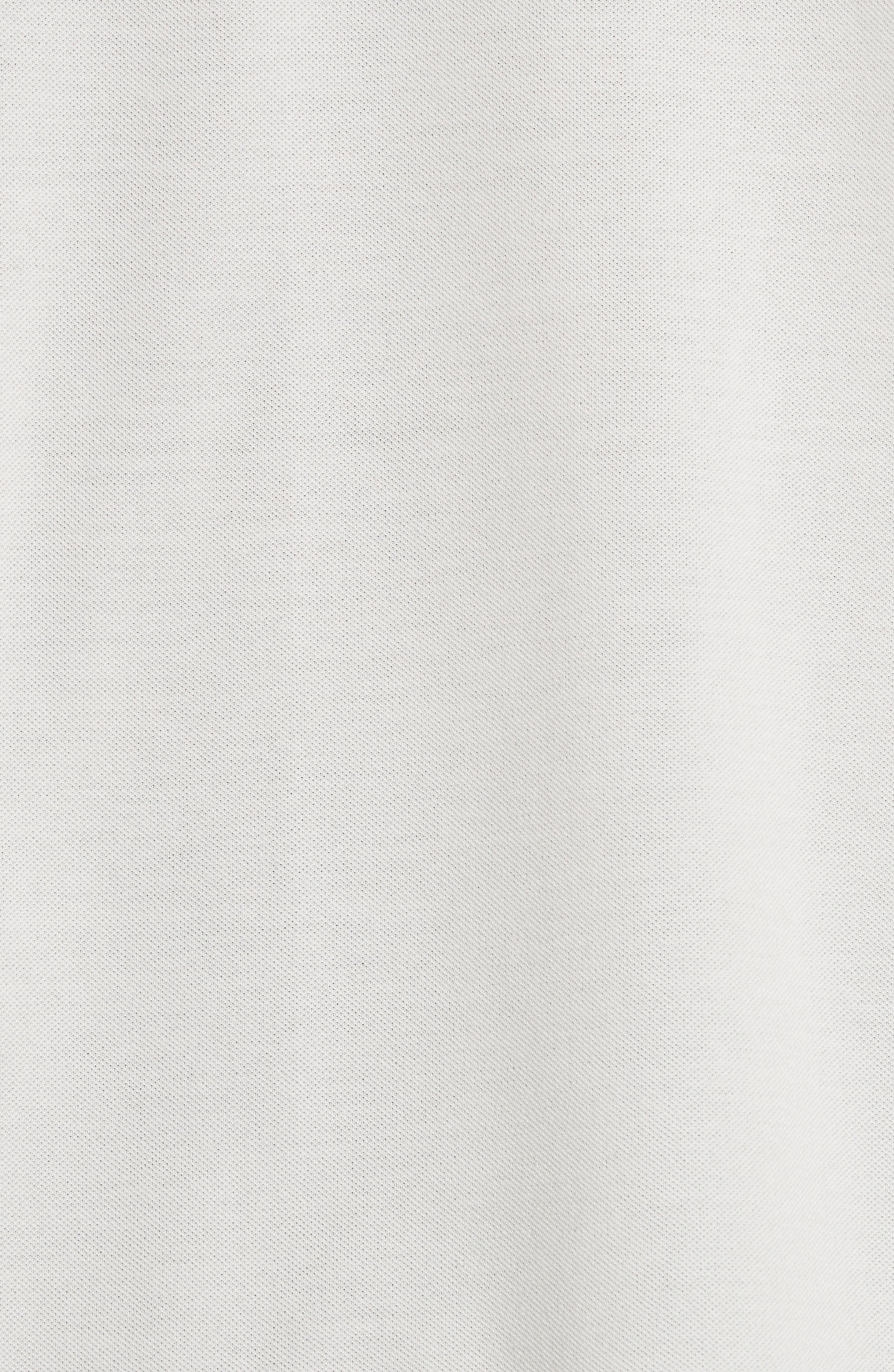 Stripe Placket Piqué Polo,                             Alternate thumbnail 5, color,                             01 White