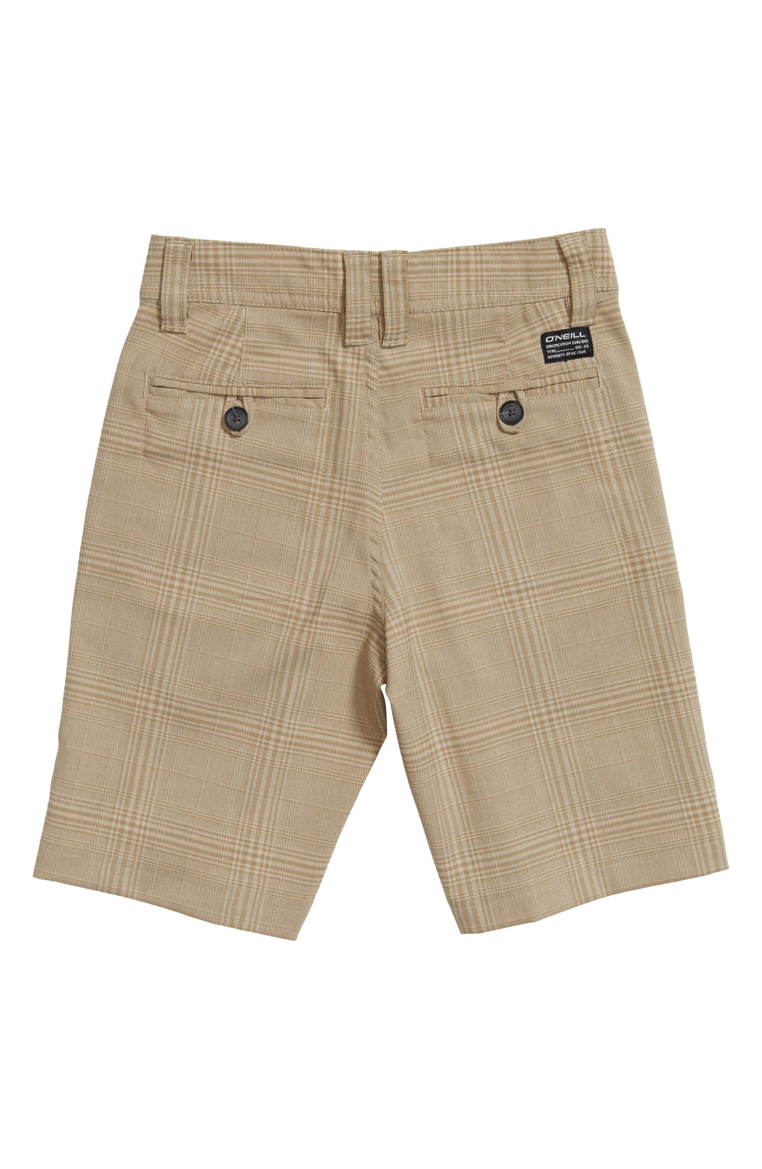 Bristol Plaid Shorts,                             Alternate thumbnail 2, color,                             Khaki