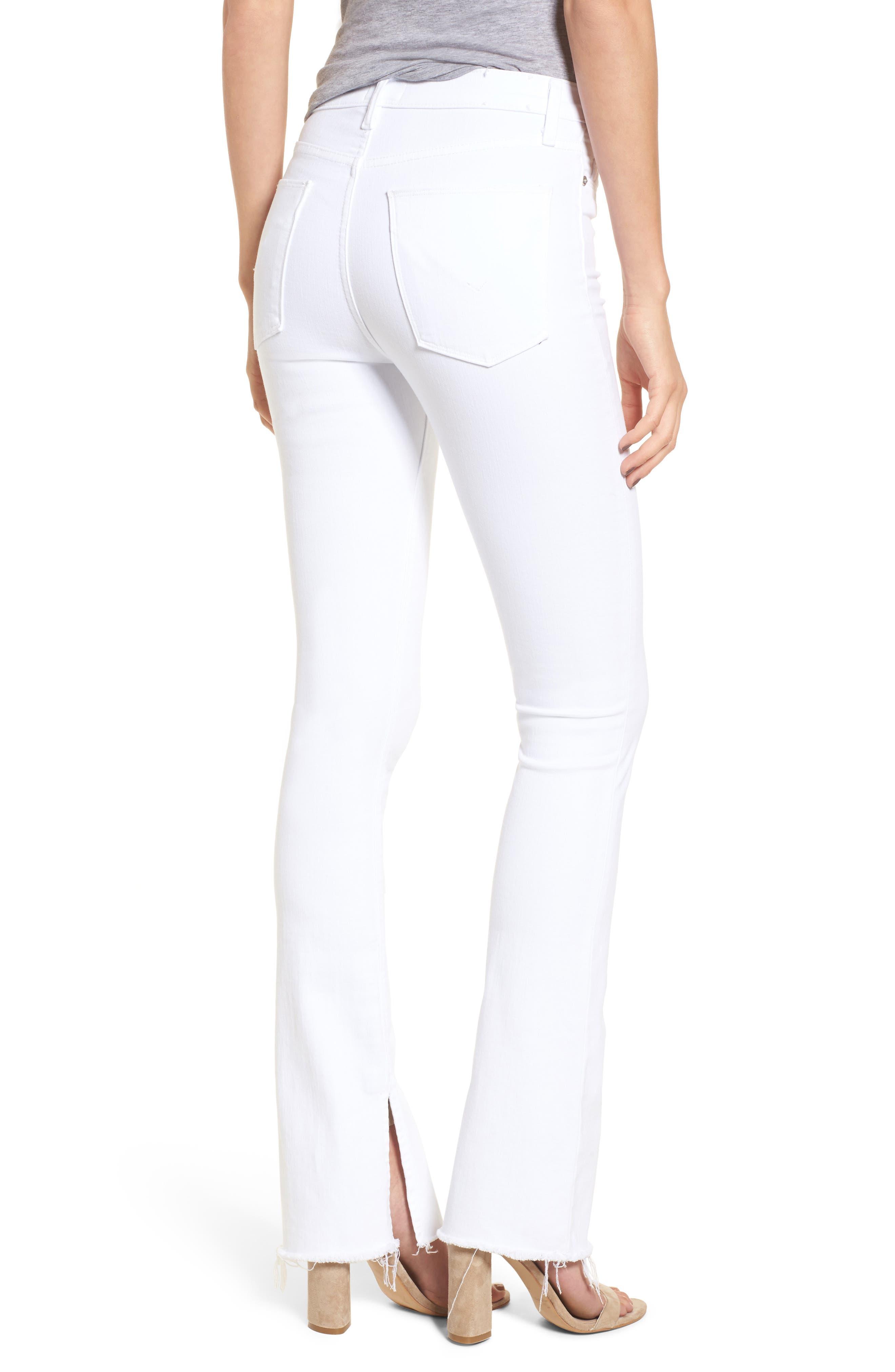 Alternate Image 2  - Hudson Jeans Heartbreaker High Waist Bootcut Jeans (Optical White)