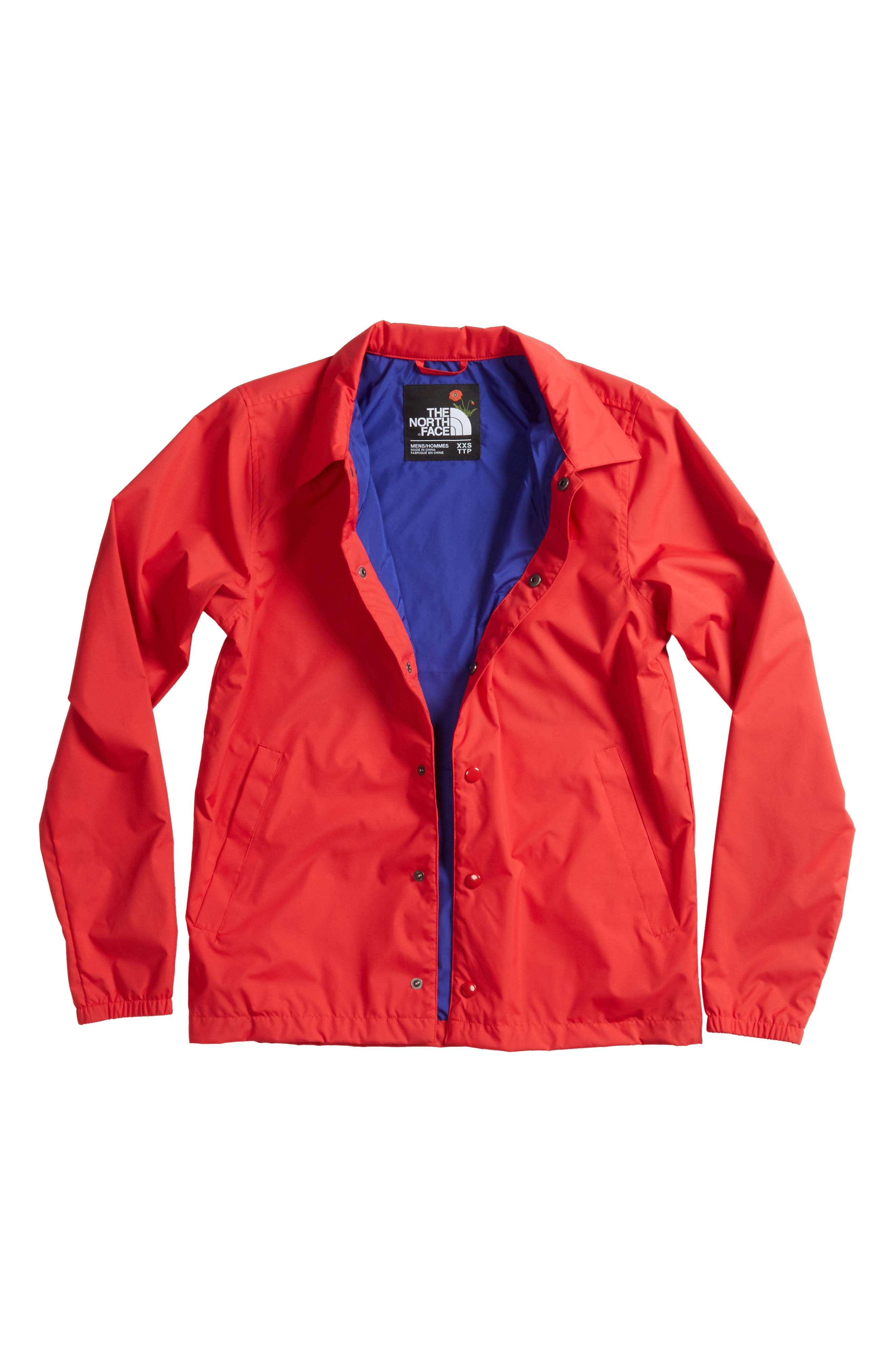 Coaches Jacket,                         Main,                         color, Tnf Red