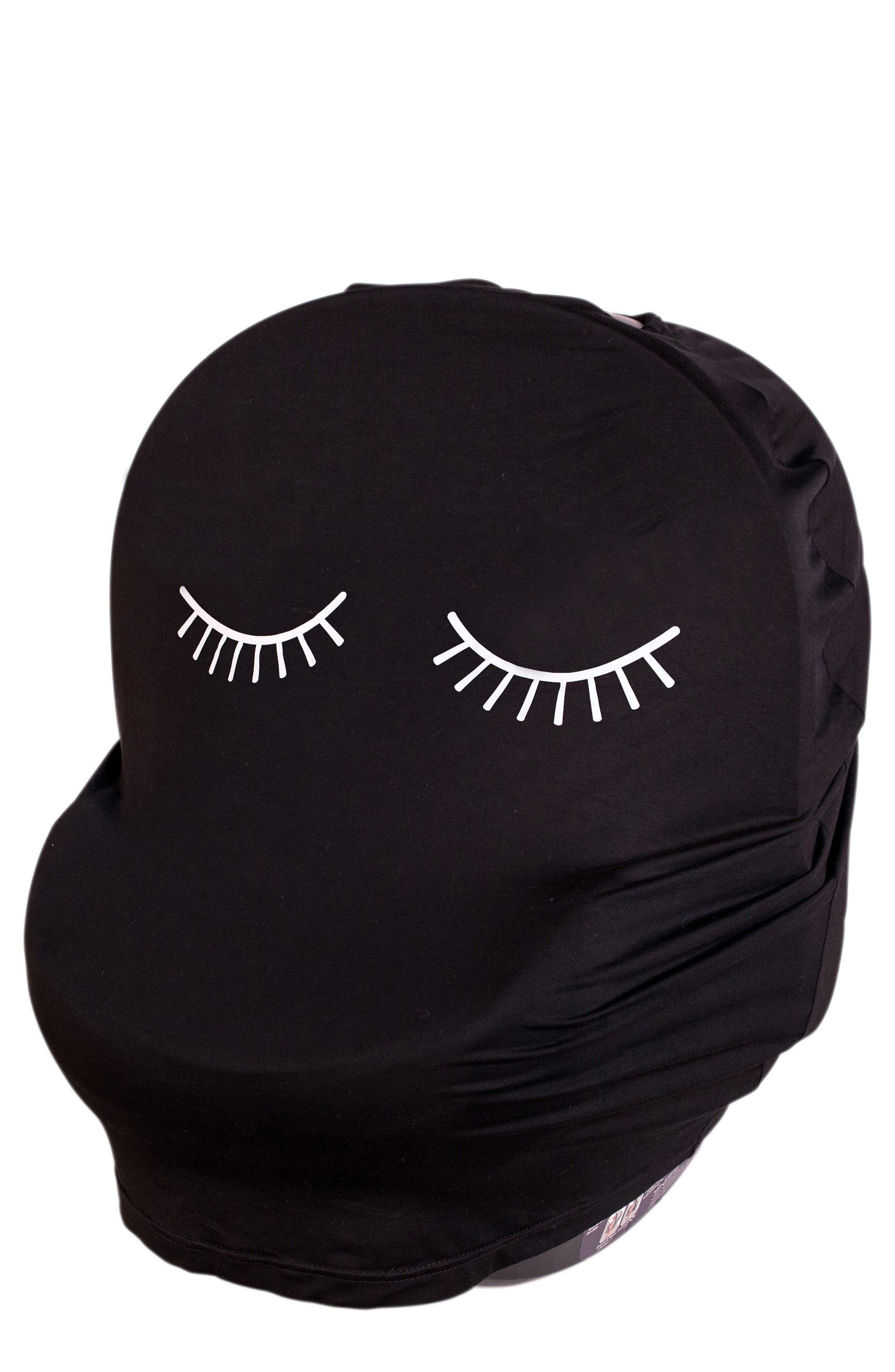 5-in-1 Car Seat Cover,                         Main,                         color, Black Lashes