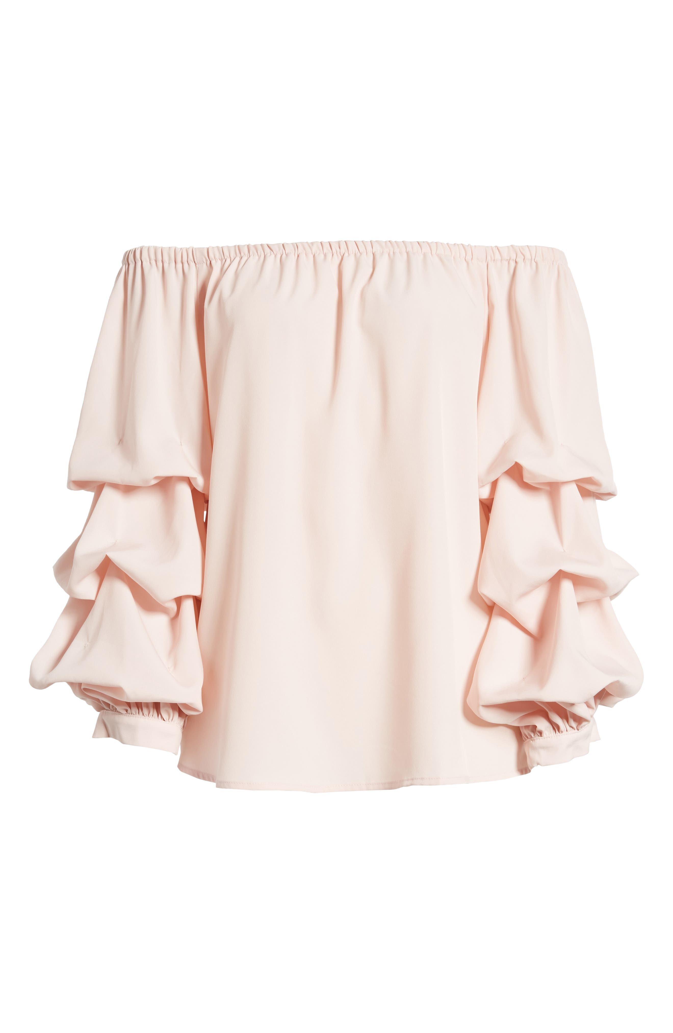 Off the Shoulder Top,                             Alternate thumbnail 6, color,                             Pink Peach