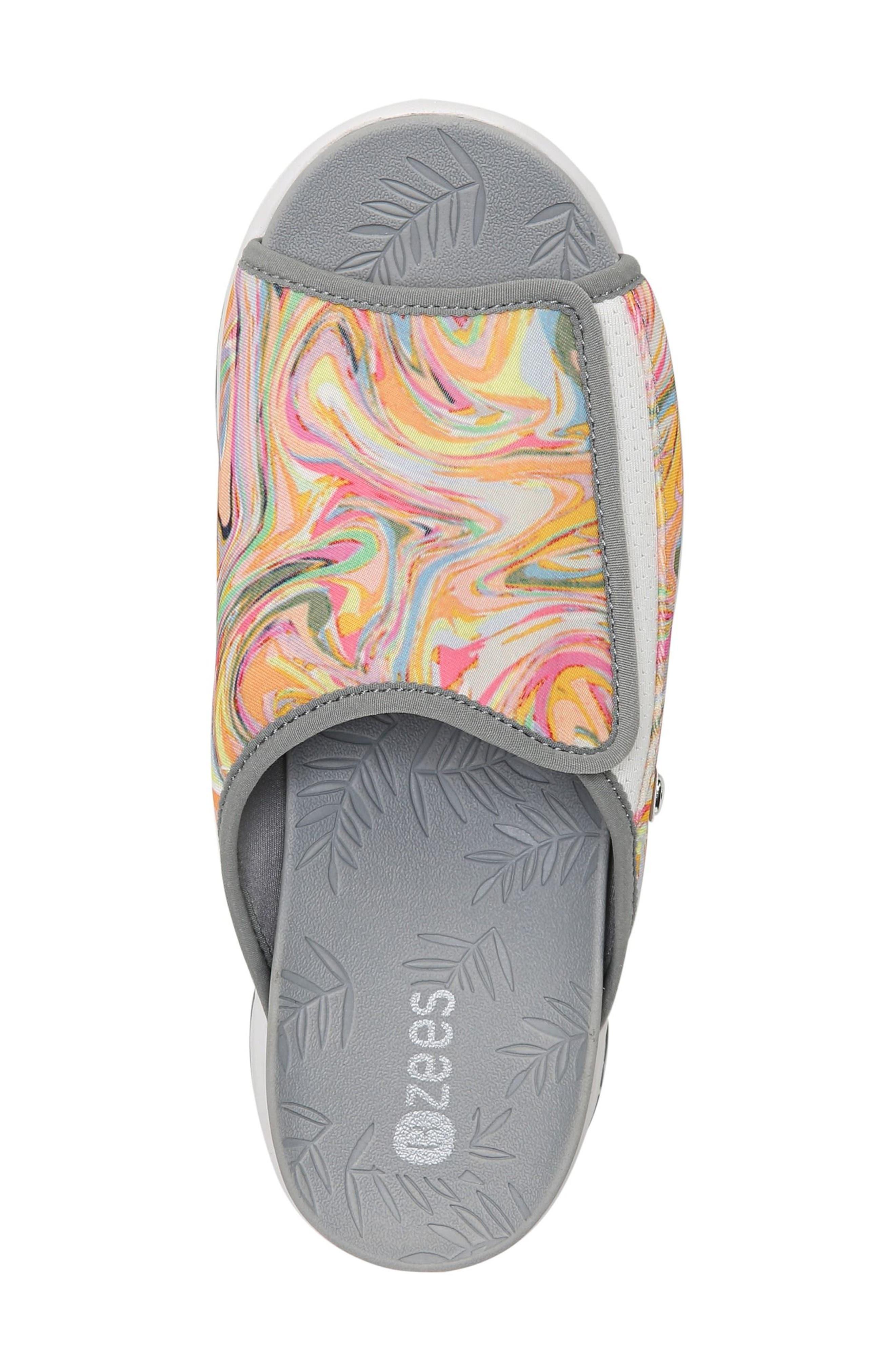 Galaxy Slide Sandal,                             Alternate thumbnail 5, color,                             Lava Fabric