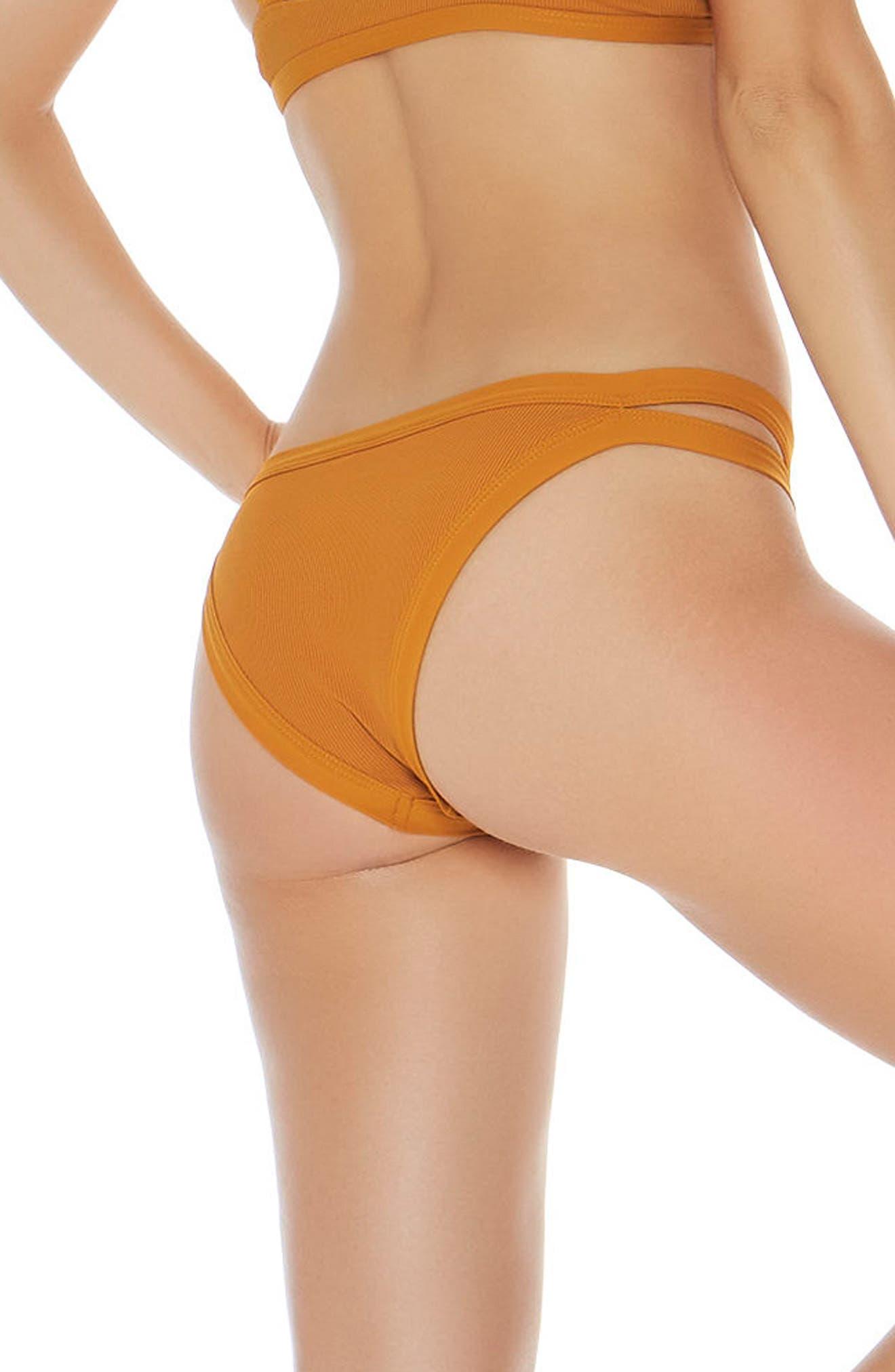 Ridin' High Charlie Classic Bikini Bottoms,                             Alternate thumbnail 2, color,                             Inka Gold