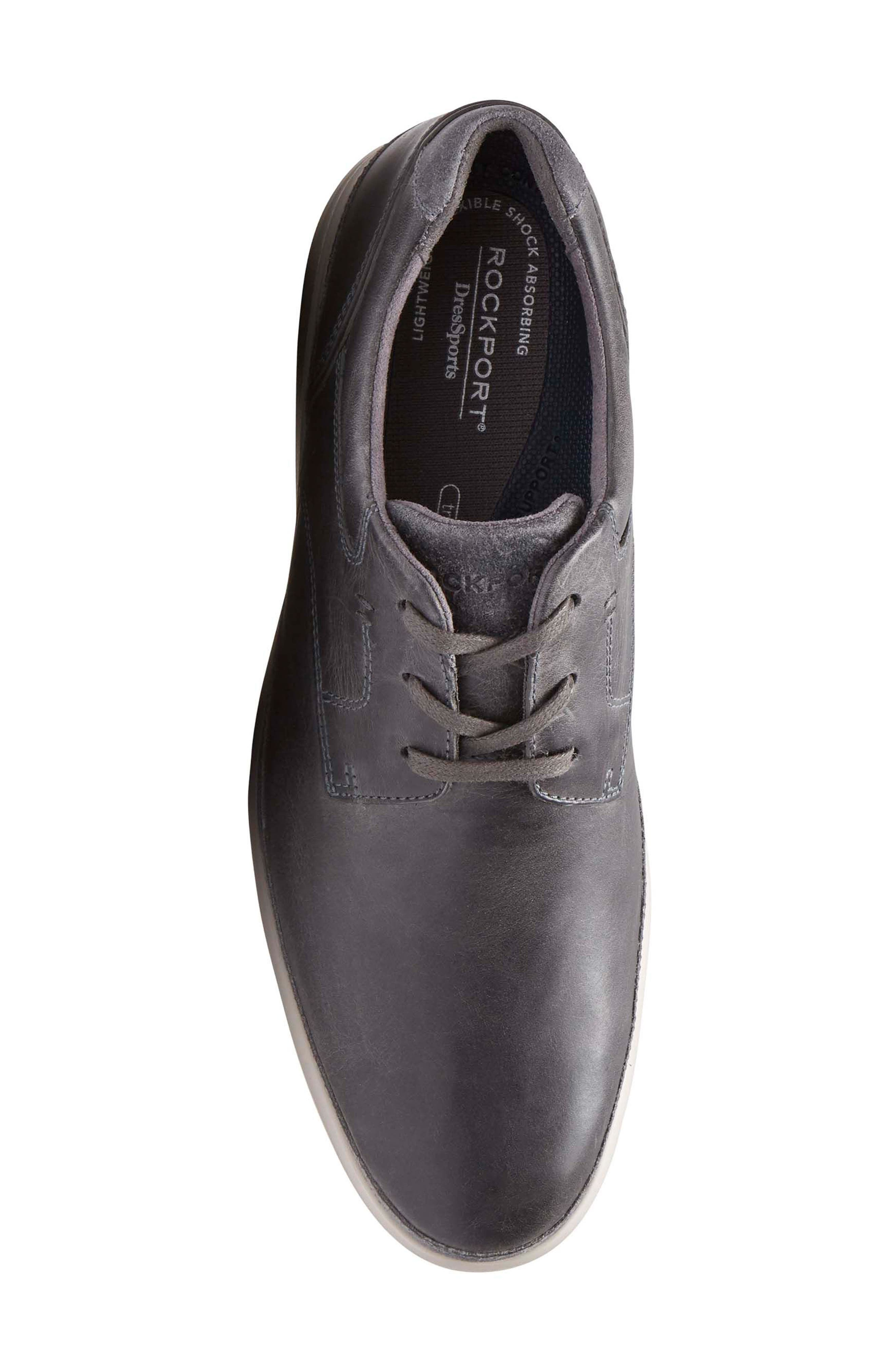 Dressports 2 Go Plain Toe Derby,                             Alternate thumbnail 5, color,                             Grey Leather