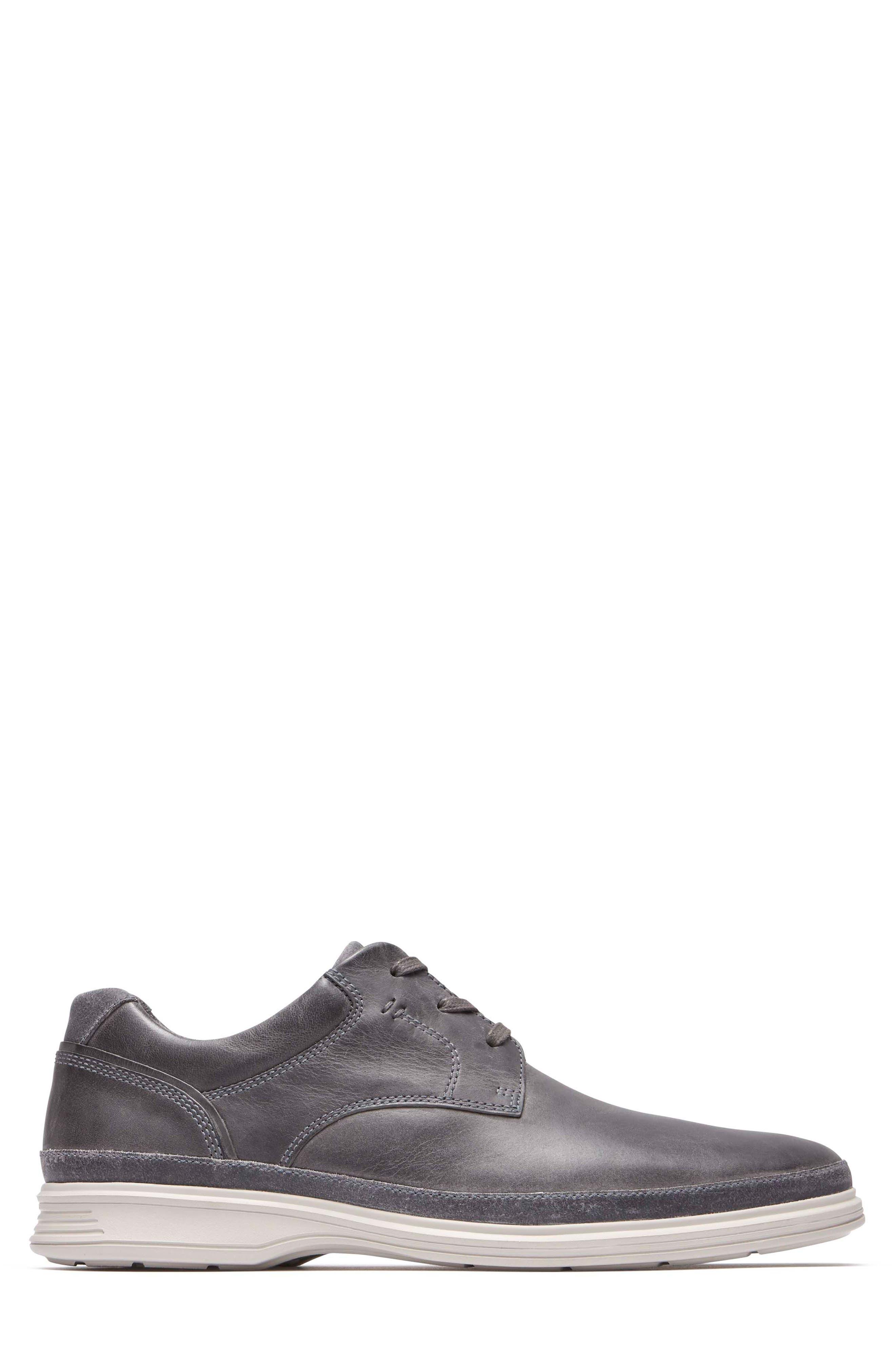Dressports 2 Go Plain Toe Derby,                             Alternate thumbnail 3, color,                             Grey Leather