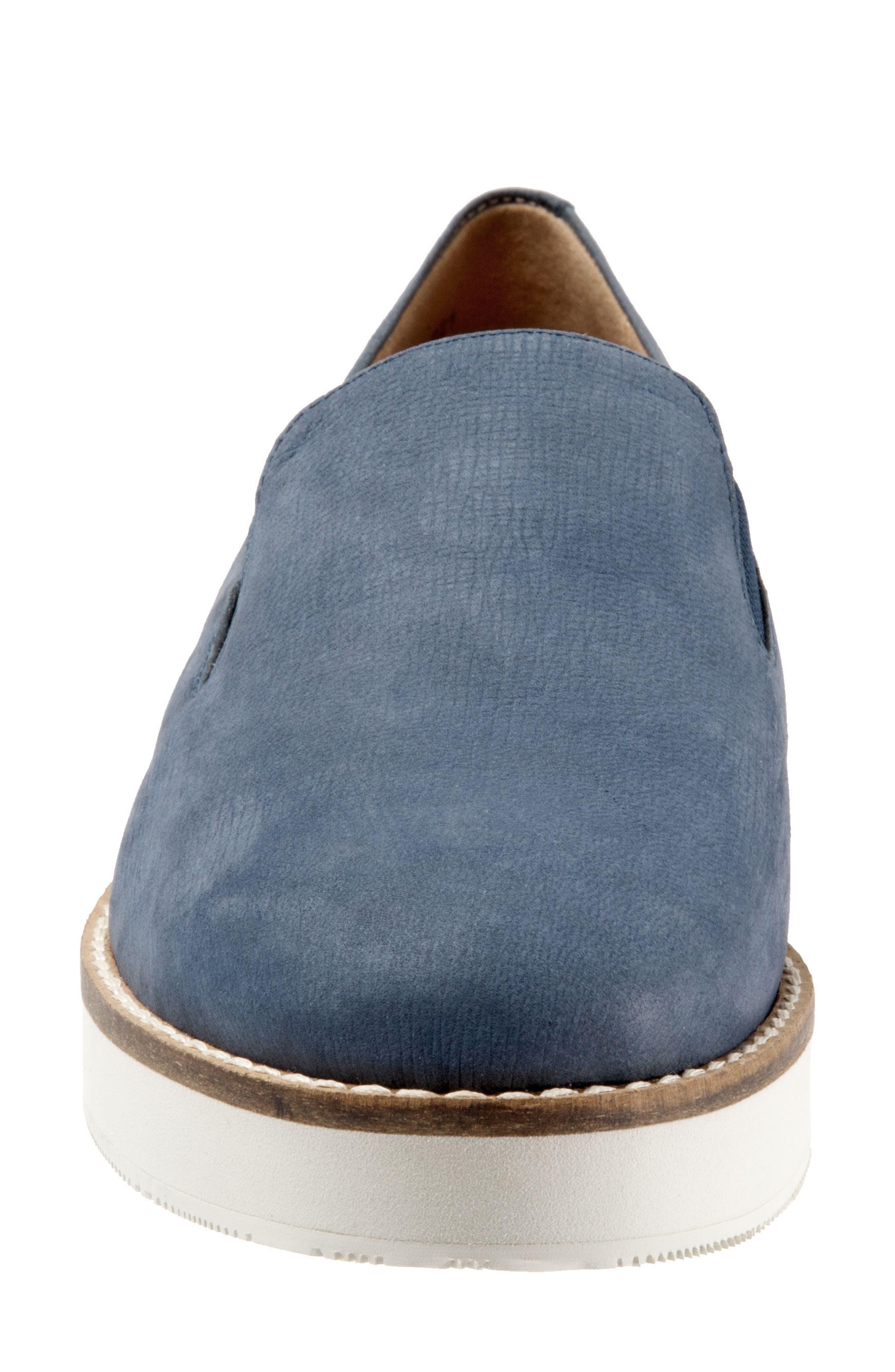 Whistle Slip-On,                             Alternate thumbnail 4, color,                             Denim Leather