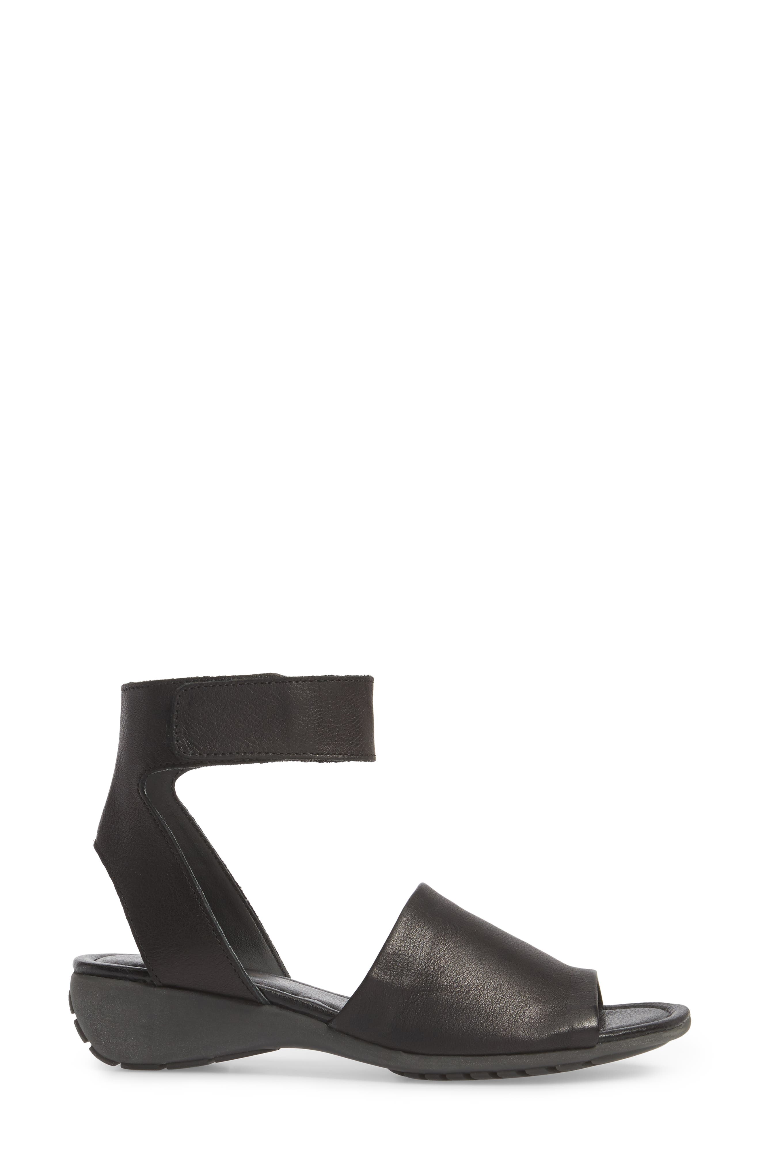 'Beglad' Leather Ankle Strap Sandal,                             Alternate thumbnail 3, color,                             Black Vachetta Leather