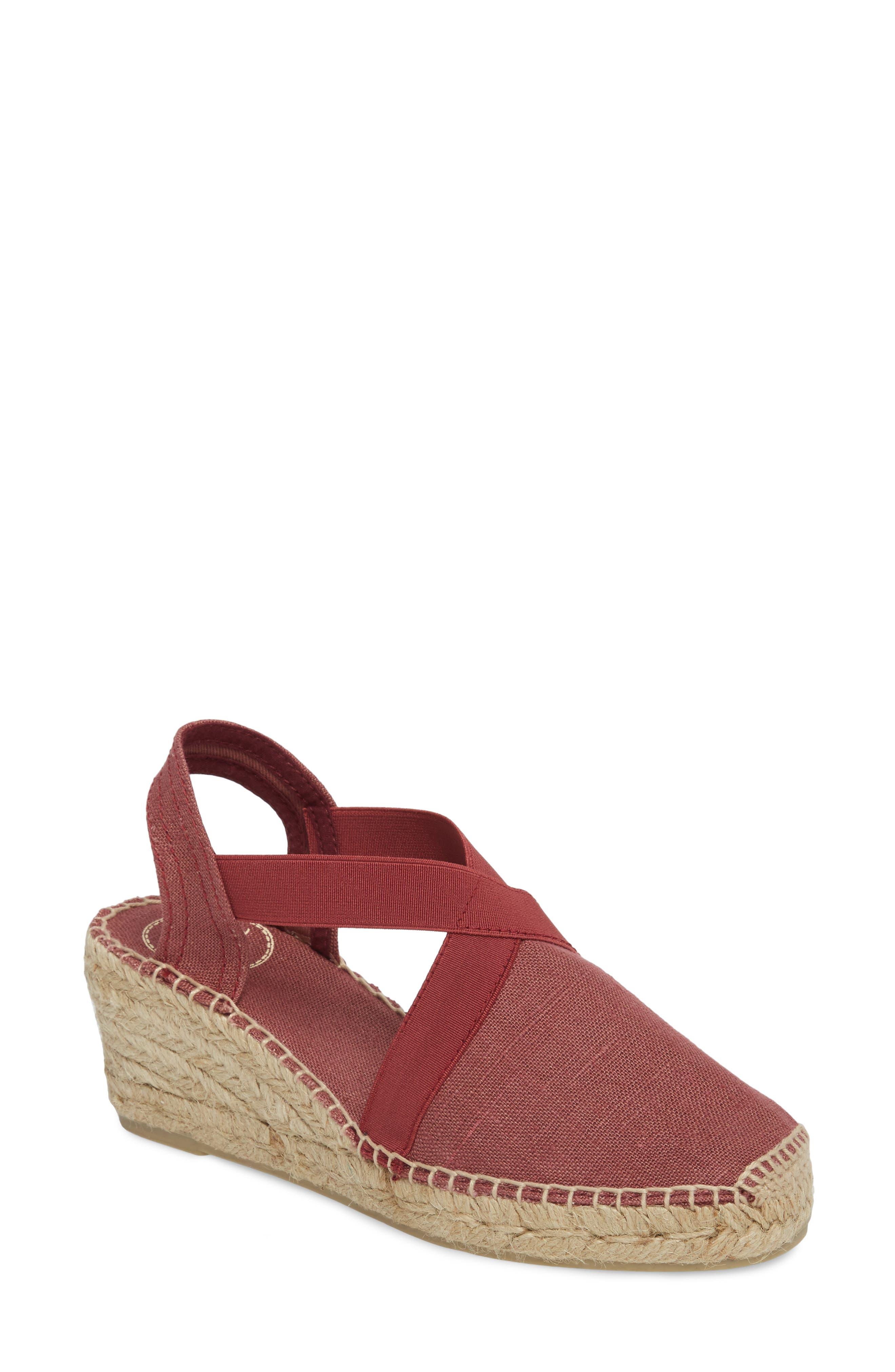 'Ter' Slingback Espadrille Sandal,                             Main thumbnail 1, color,                             Bru Fabric