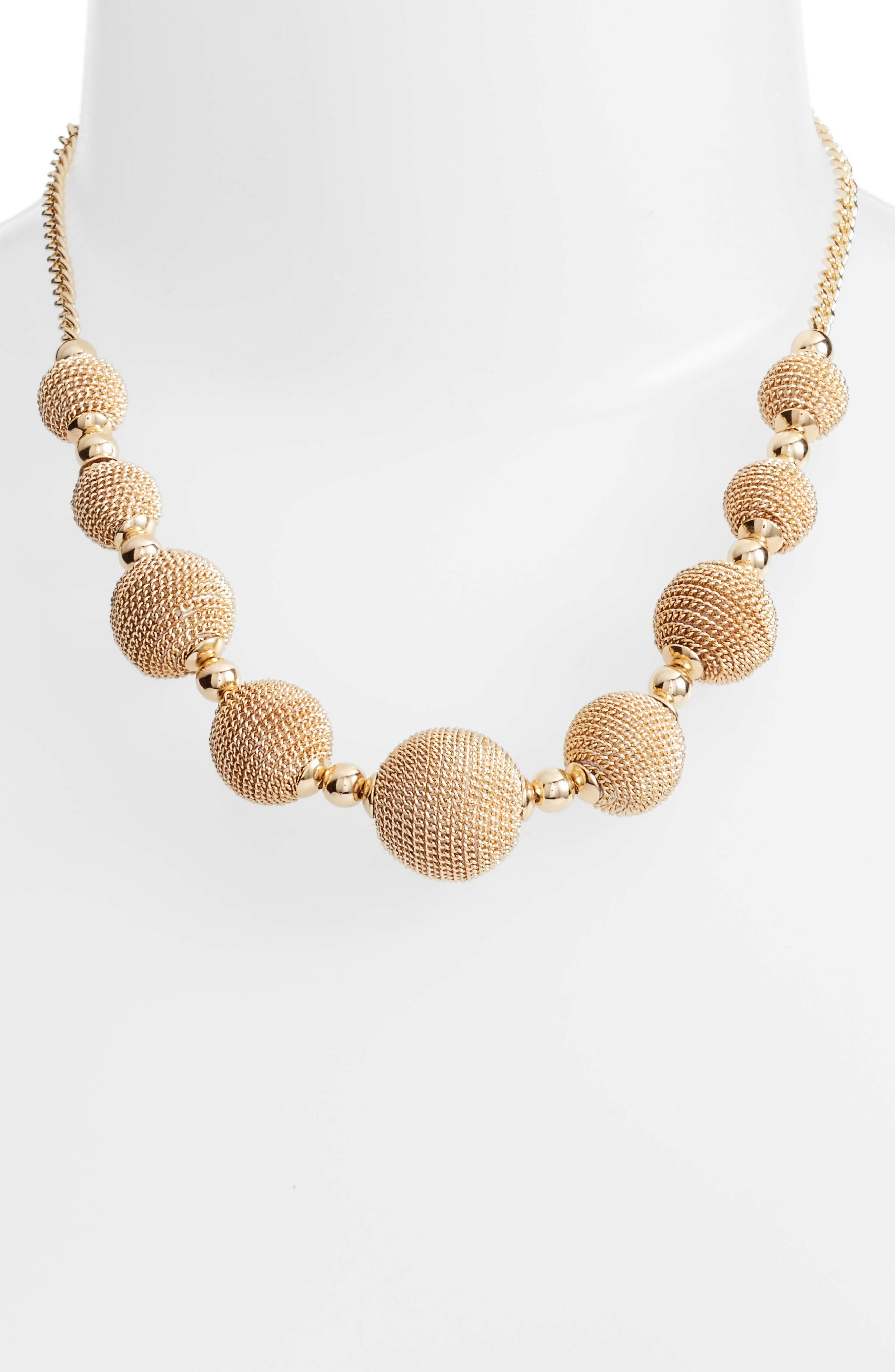 Alternate Image 2  - Halogen® Textured Charm Collar Necklace