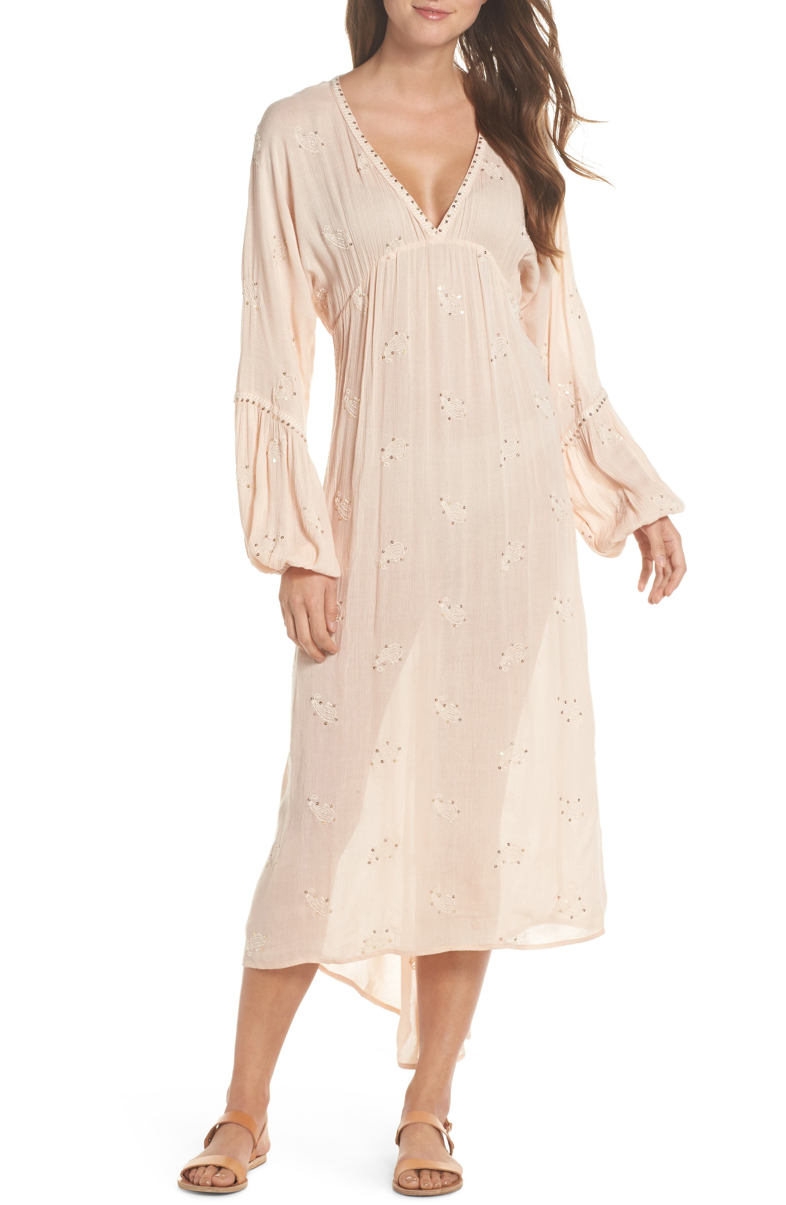 Mercer Cover-Up Maxi Dress,                         Main,                         color, Blush