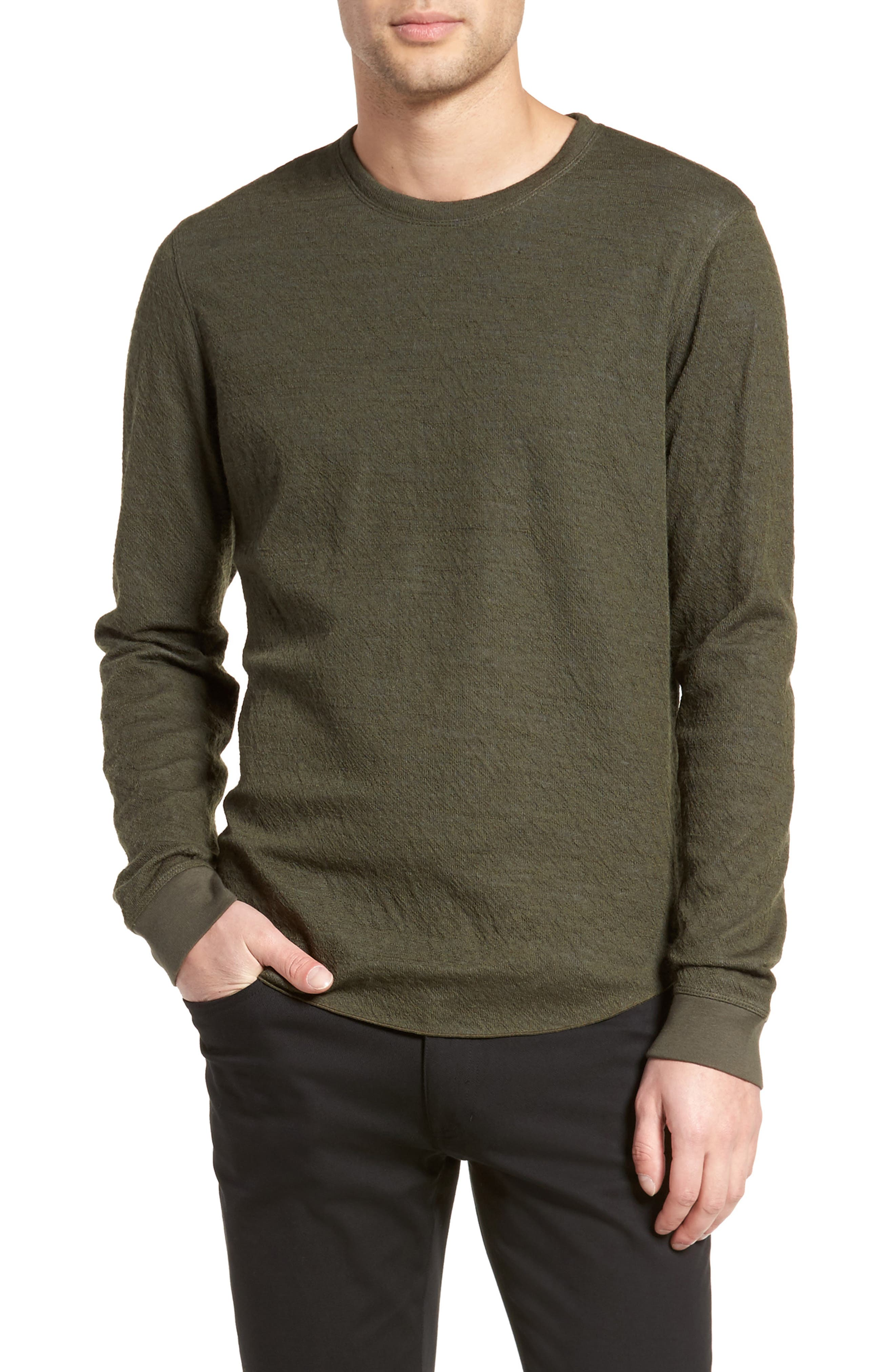 Alternate Image 1 Selected - Vince Double Knit Long Sleeve Shirt