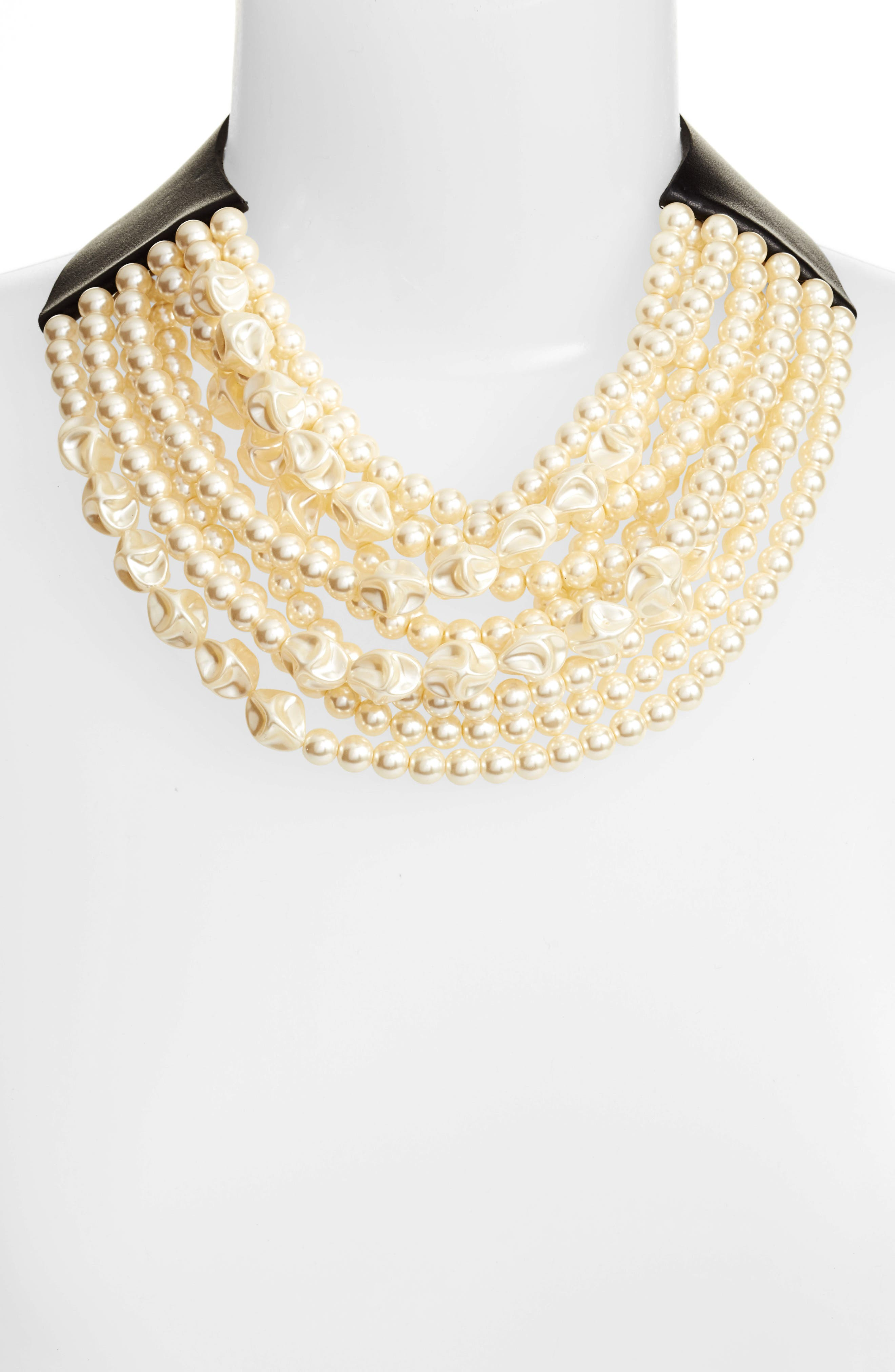 Alternate Image 2  - Fairchild Baldwin Beaded Collar Necklace