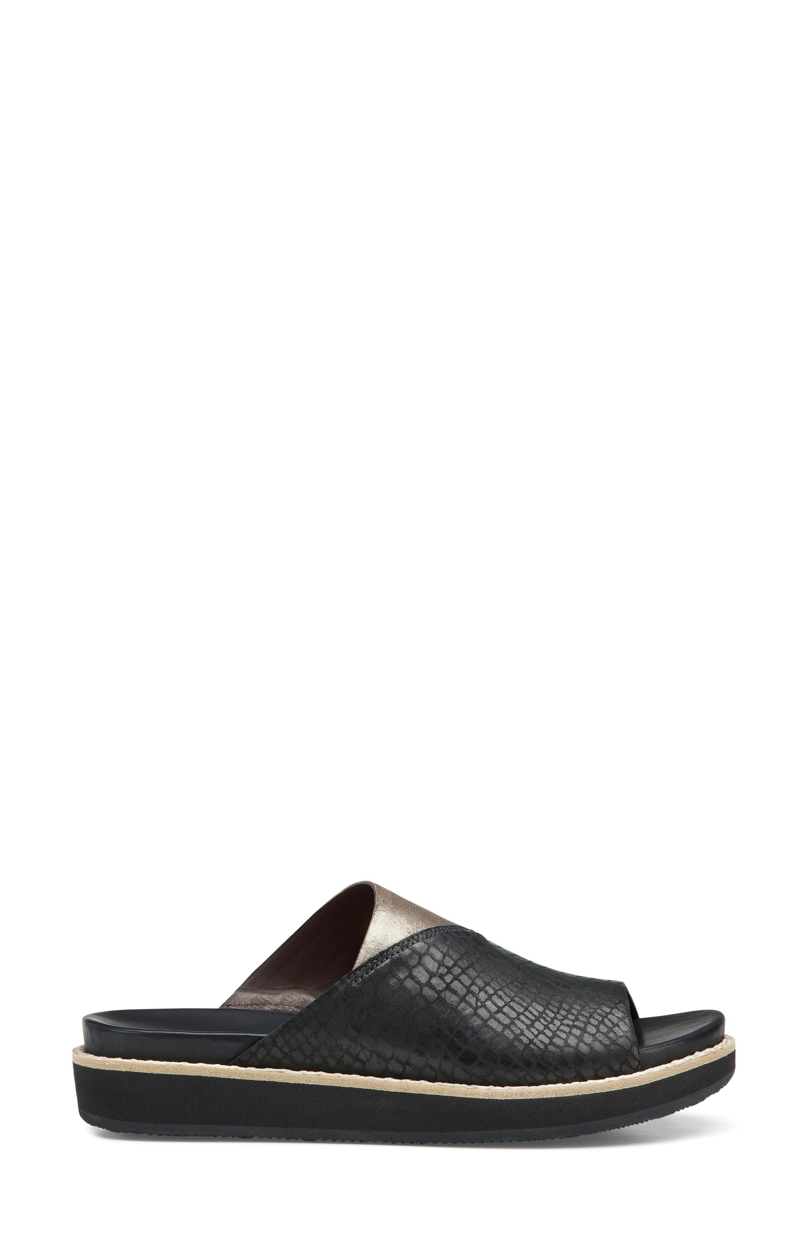 Codi Sandal,                             Alternate thumbnail 3, color,                             Black Embossed Leather