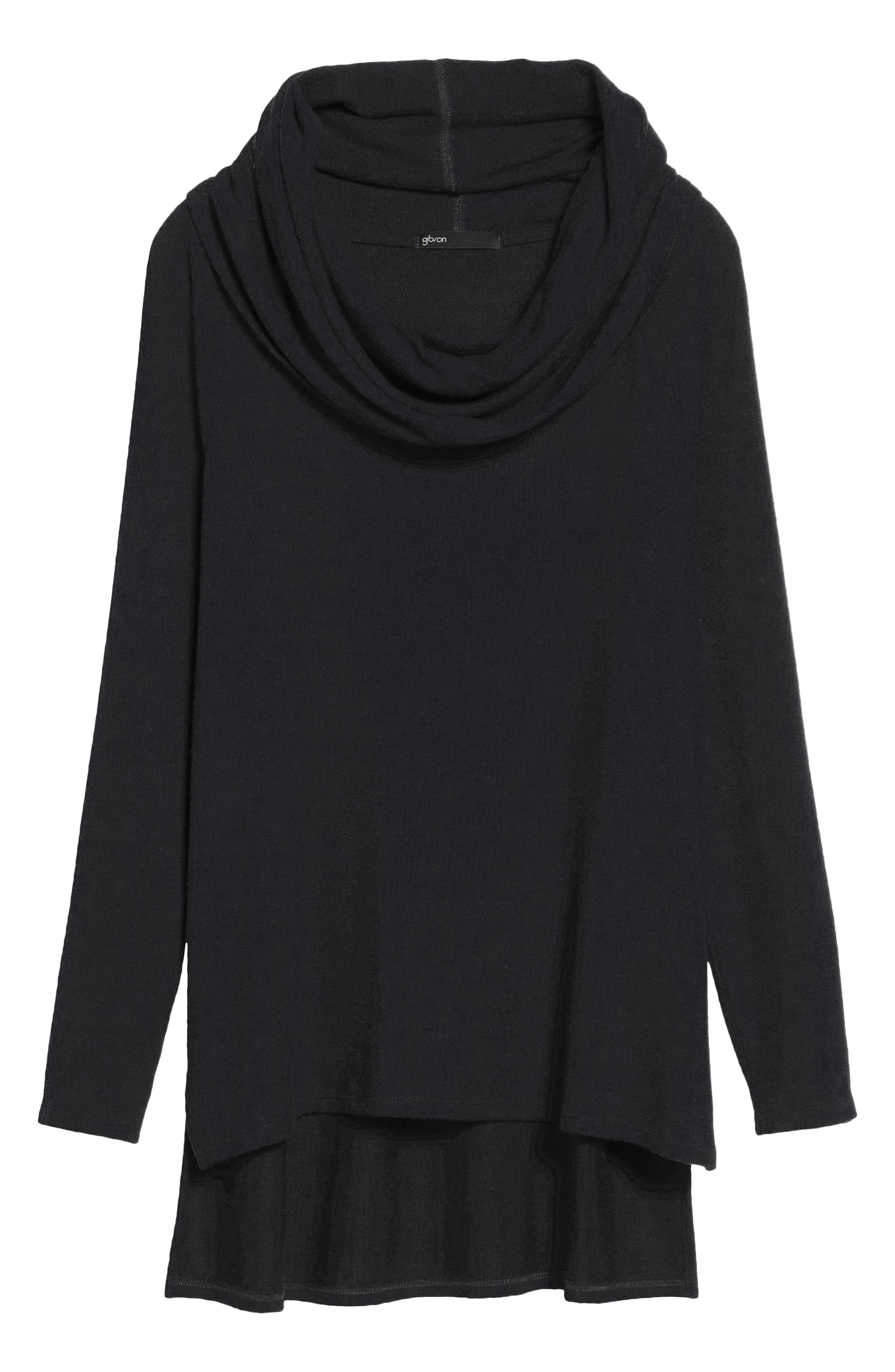 Gibson Convertible Neckline Cozy Fleece Tunic (Regular & Petite)