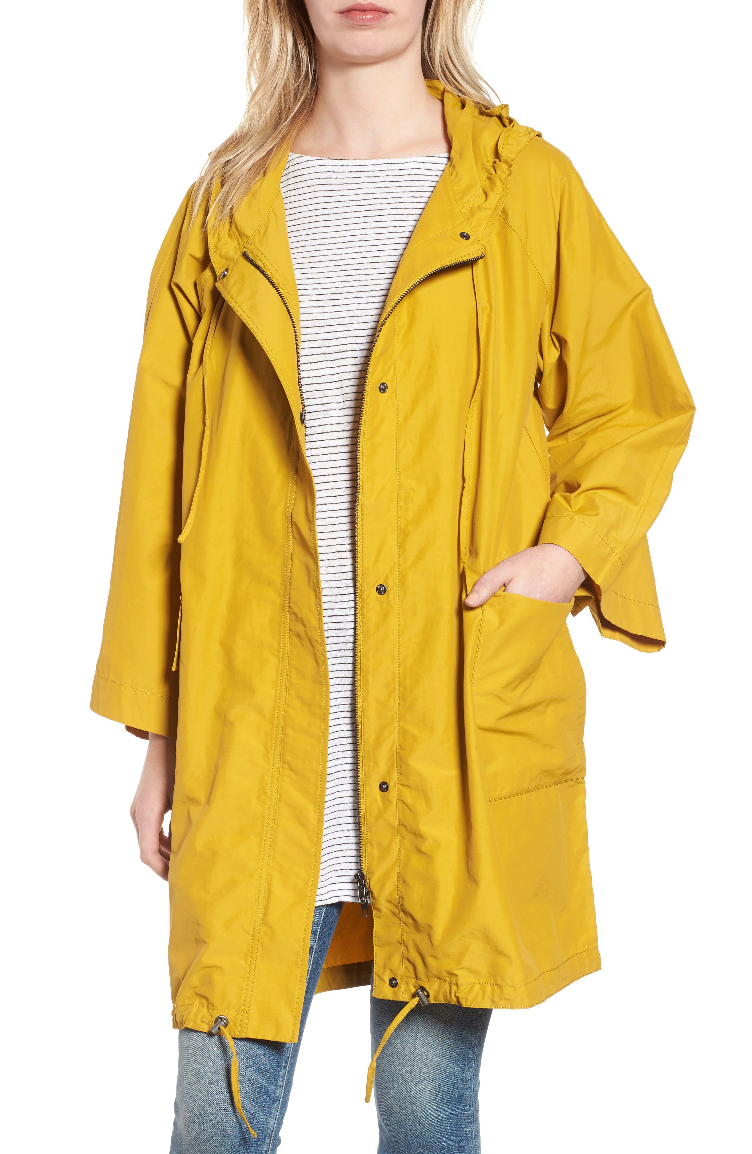 Eileen Fisher Hooded Organic Cotton & Nylon Jacket (Regular & Petite)
