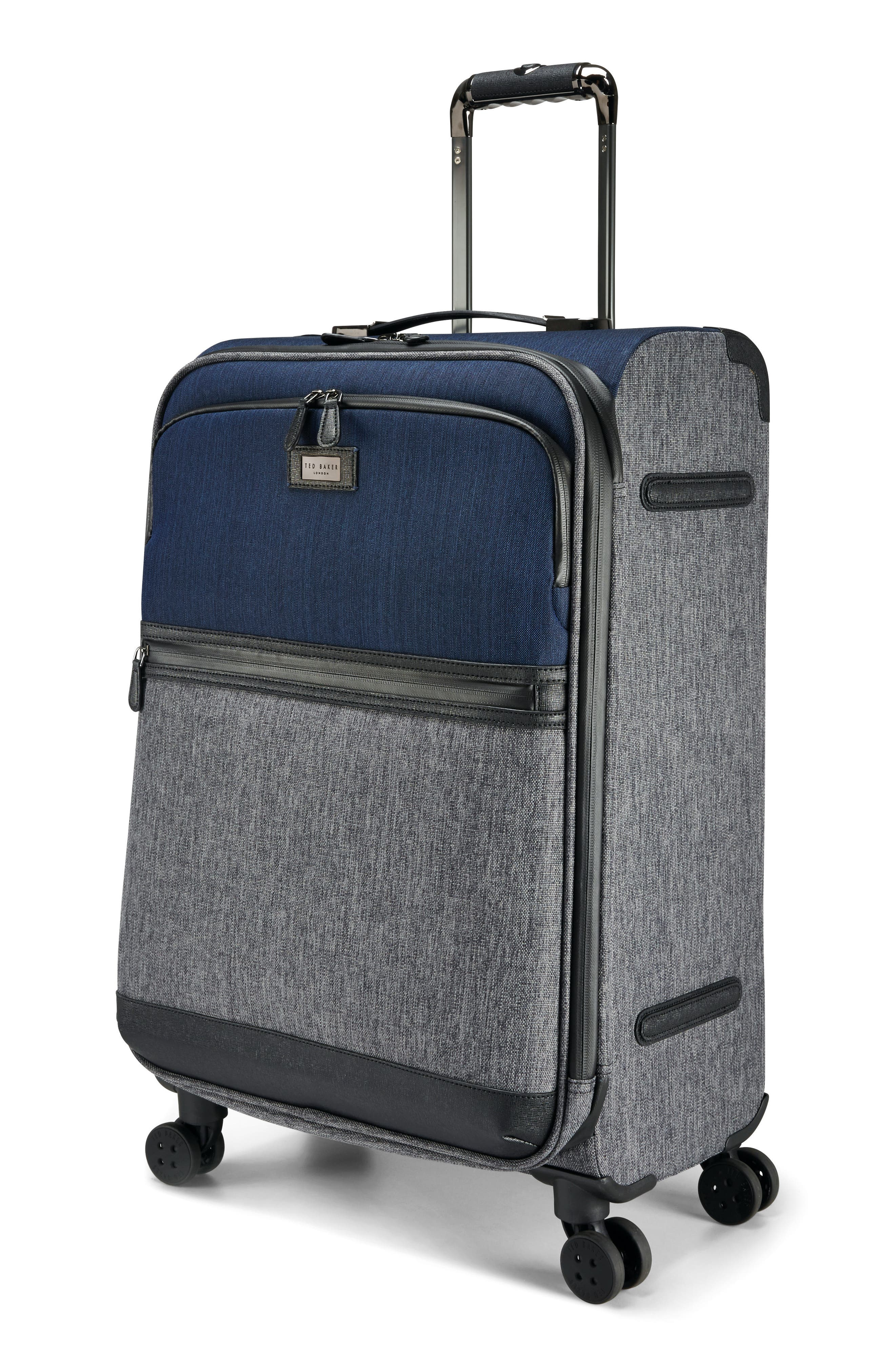 Brunswick 27-Inch Rolling Suitcase,                             Alternate thumbnail 3, color,                             Grey