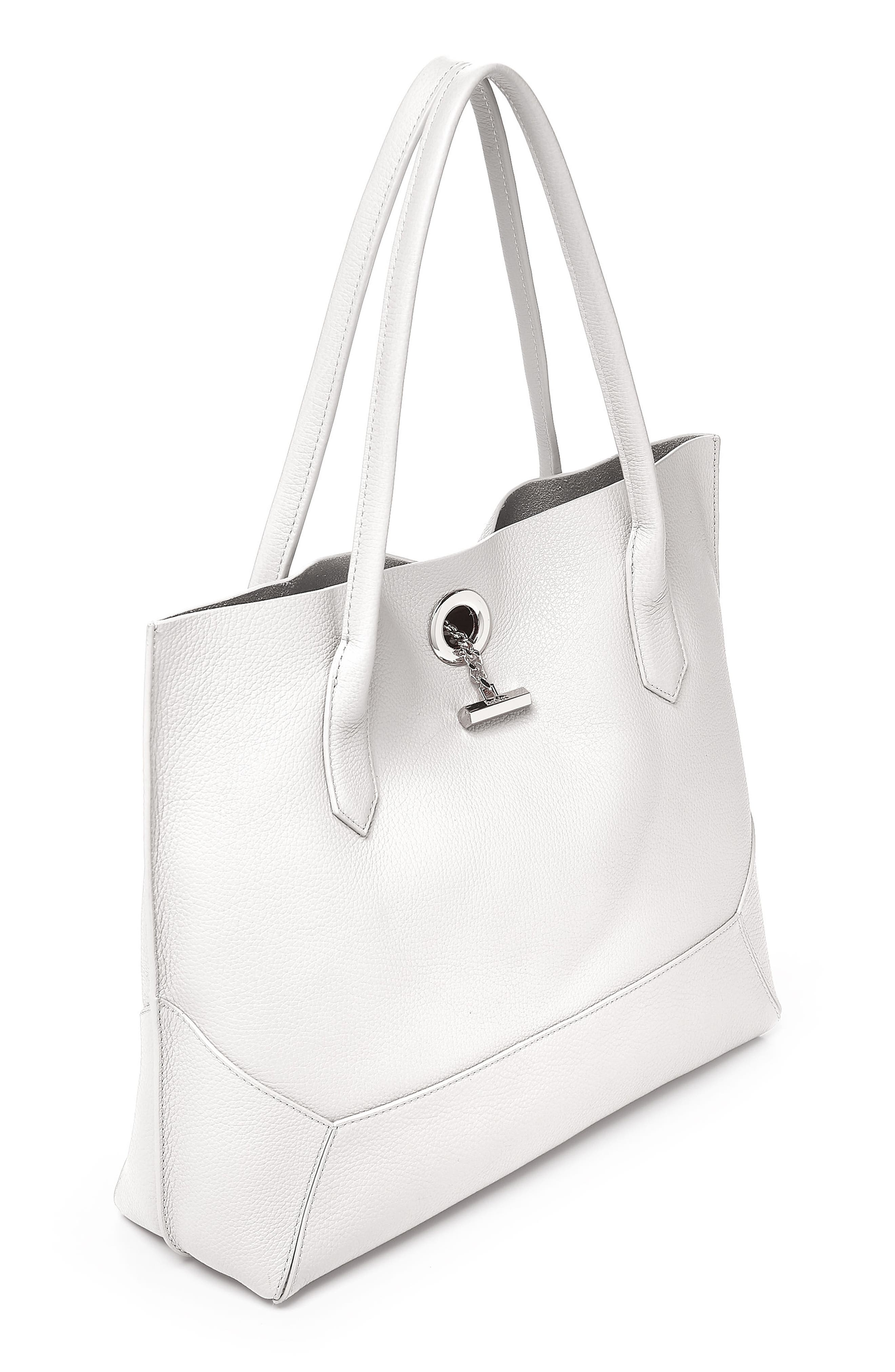 Waverly Leather Tote,                             Alternate thumbnail 4, color,                             Chalk