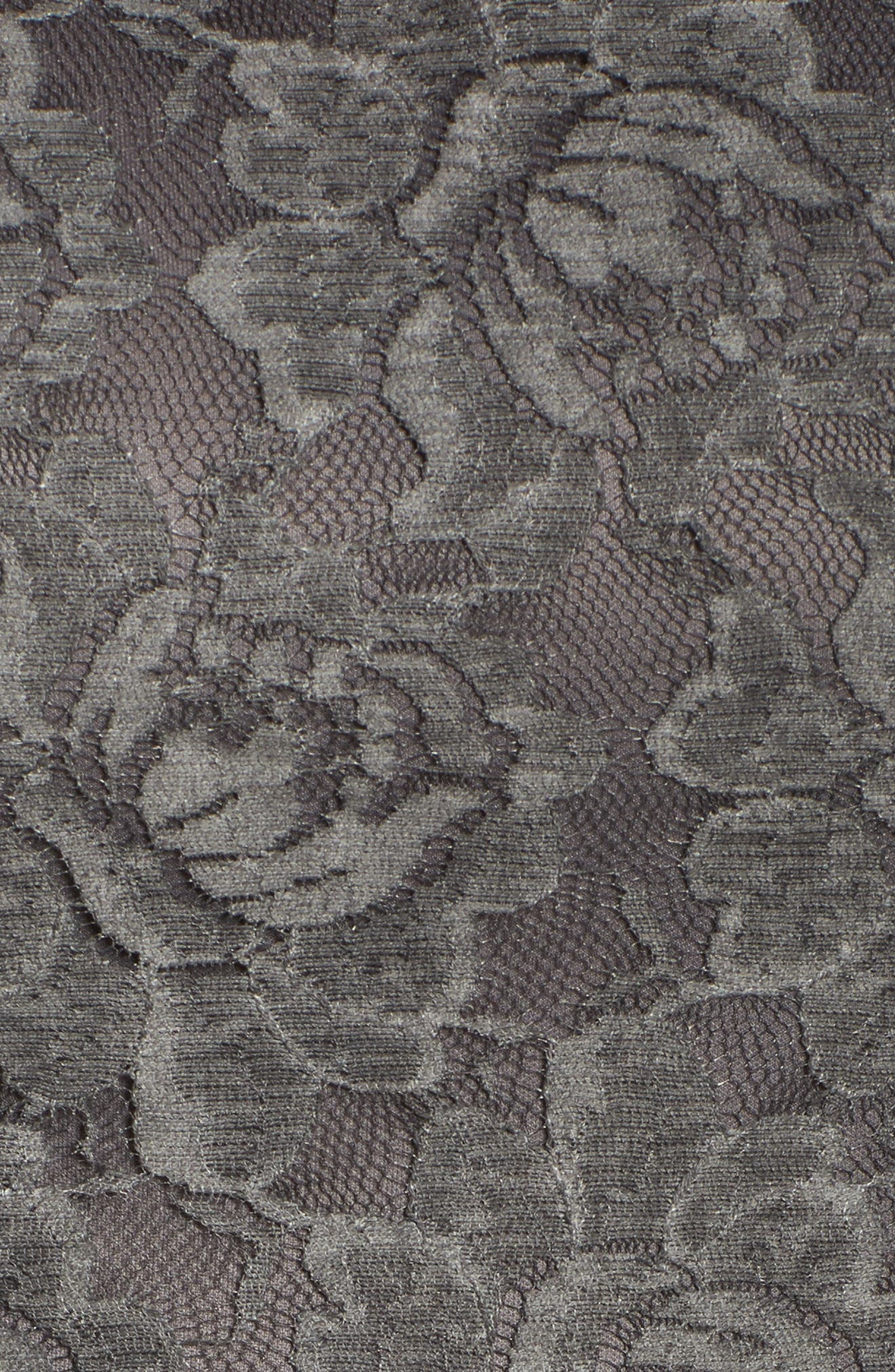 Lace Skater Dress,                             Alternate thumbnail 5, color,                             Charcoal