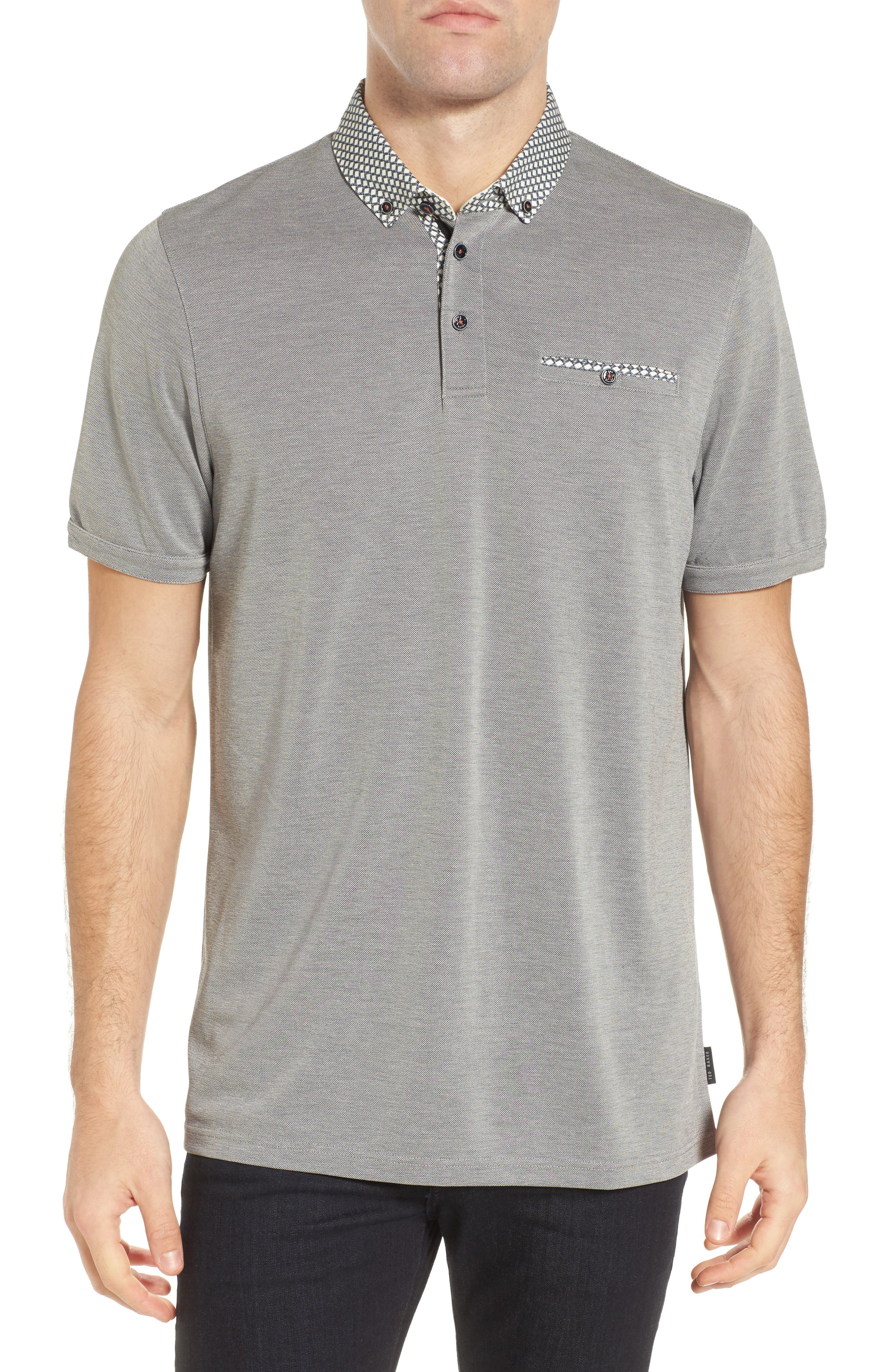 Tizu Trim Fit Polo Shirt,                         Main,                         color, Navy