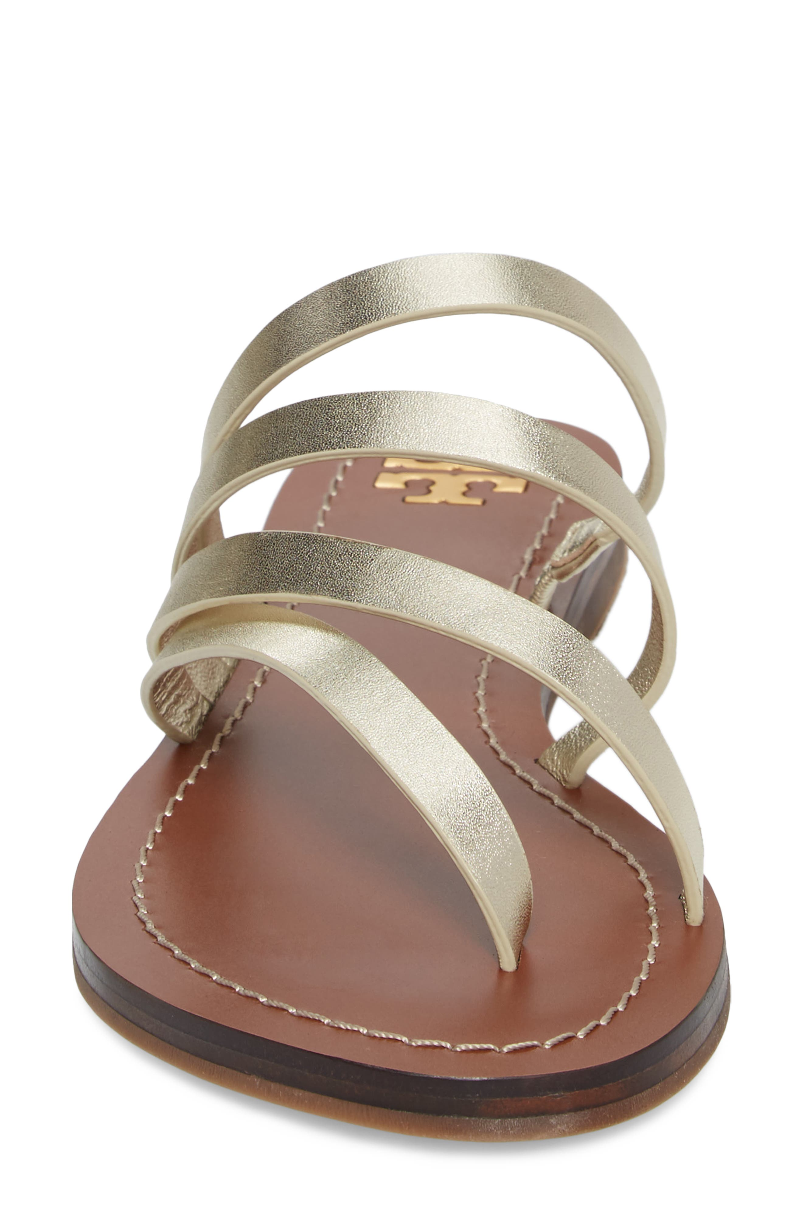 Patos Sandal,                             Alternate thumbnail 4, color,                             Spark Gold