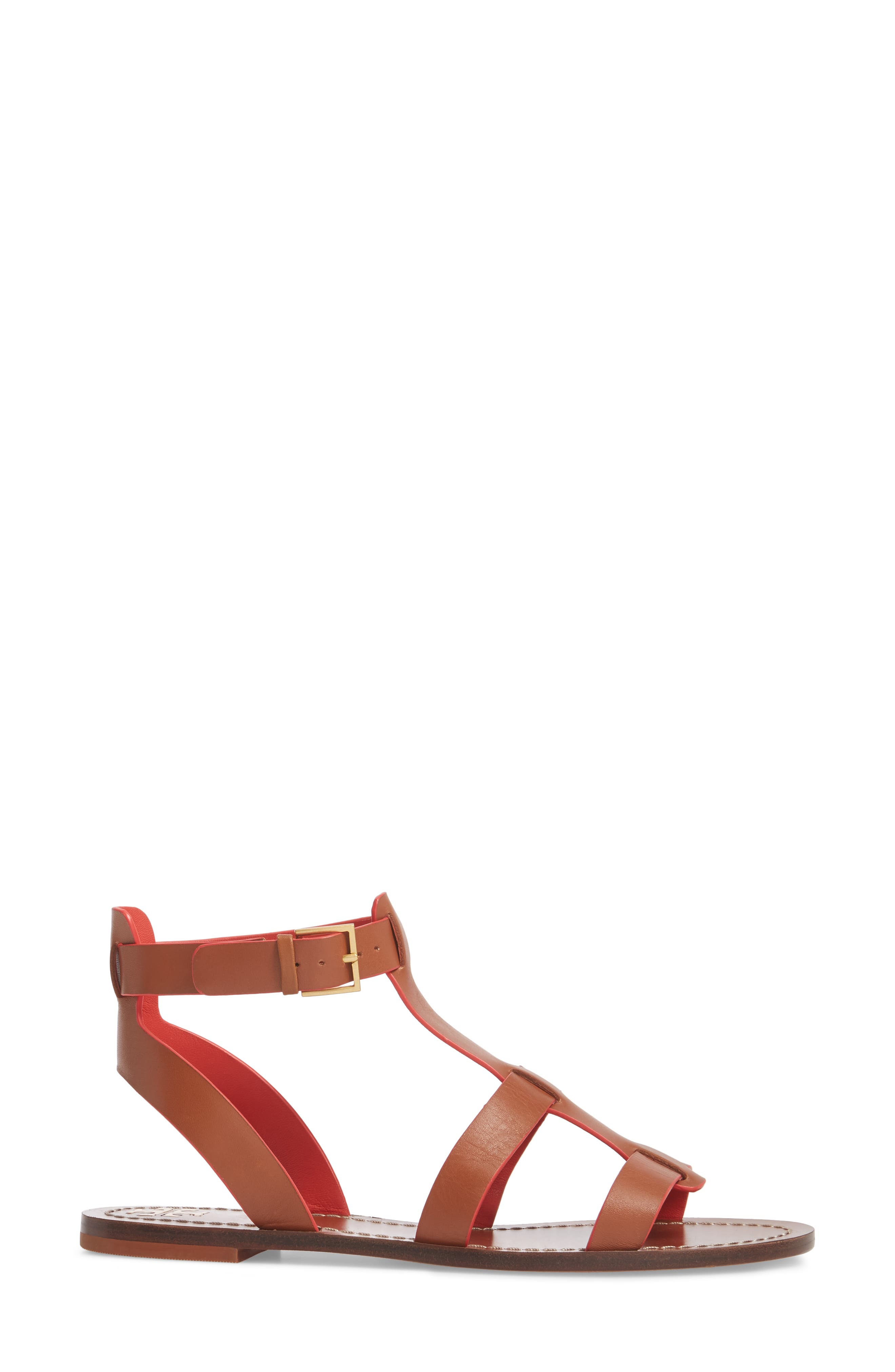 Patos Gladiator Sandal,                             Alternate thumbnail 3, color,                             Perfect Cuoio