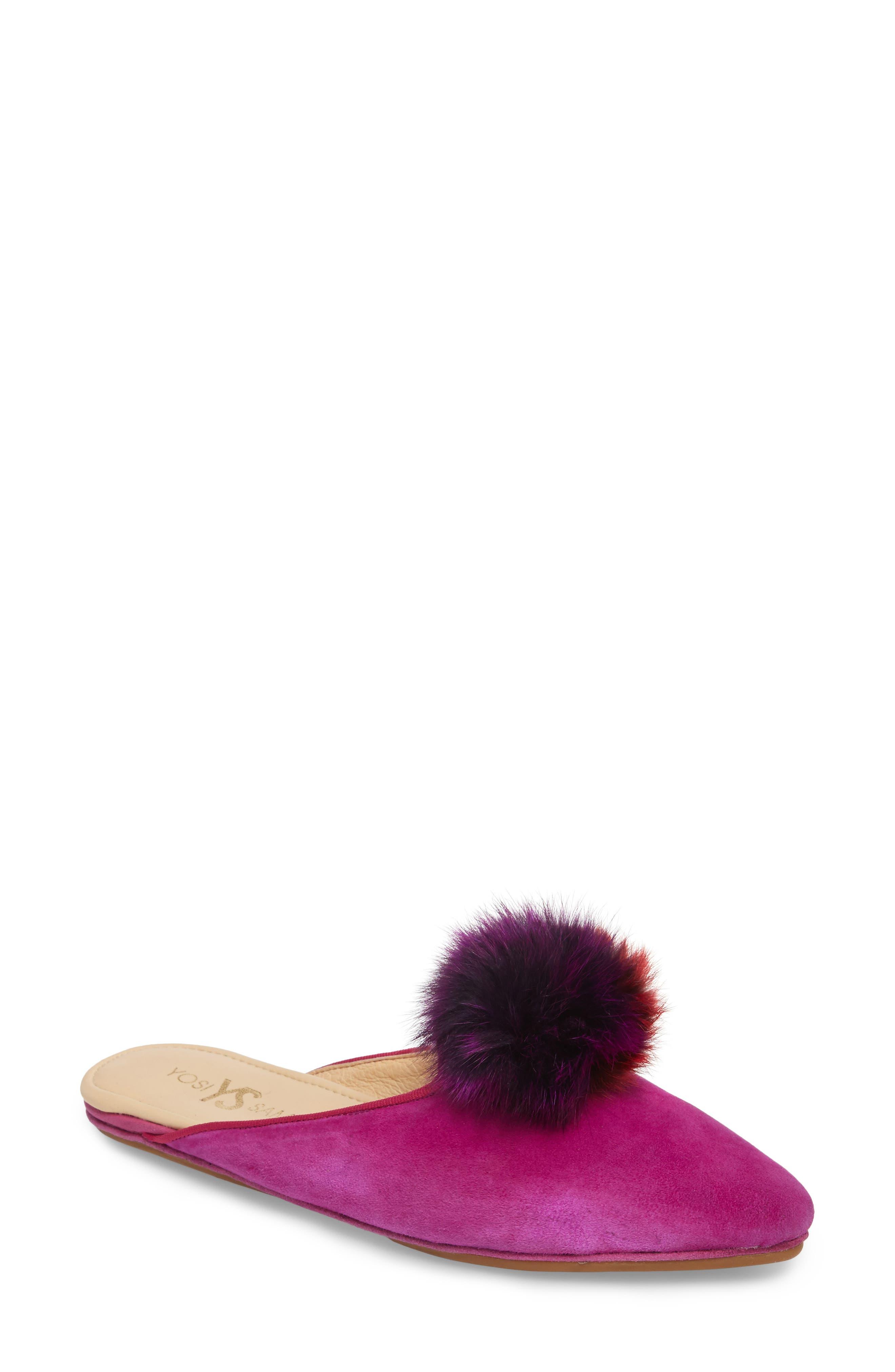 Yosi Samra Women's Vidi Genuine Rabbit Fur Loafer Mule 6lfnVC5D
